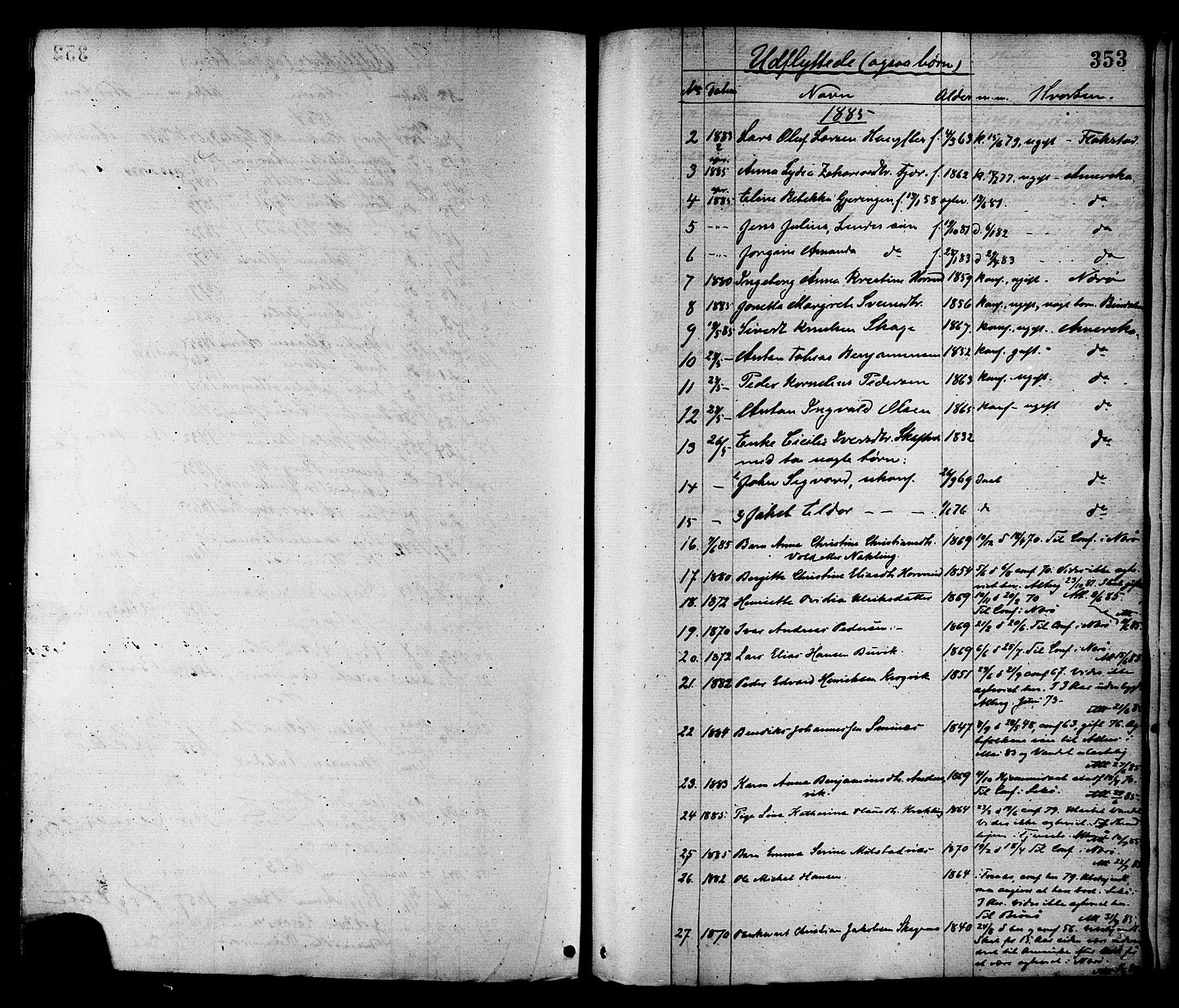 SAT, Ministerialprotokoller, klokkerbøker og fødselsregistre - Nord-Trøndelag, 780/L0642: Ministerialbok nr. 780A07 /1, 1874-1885, s. 353