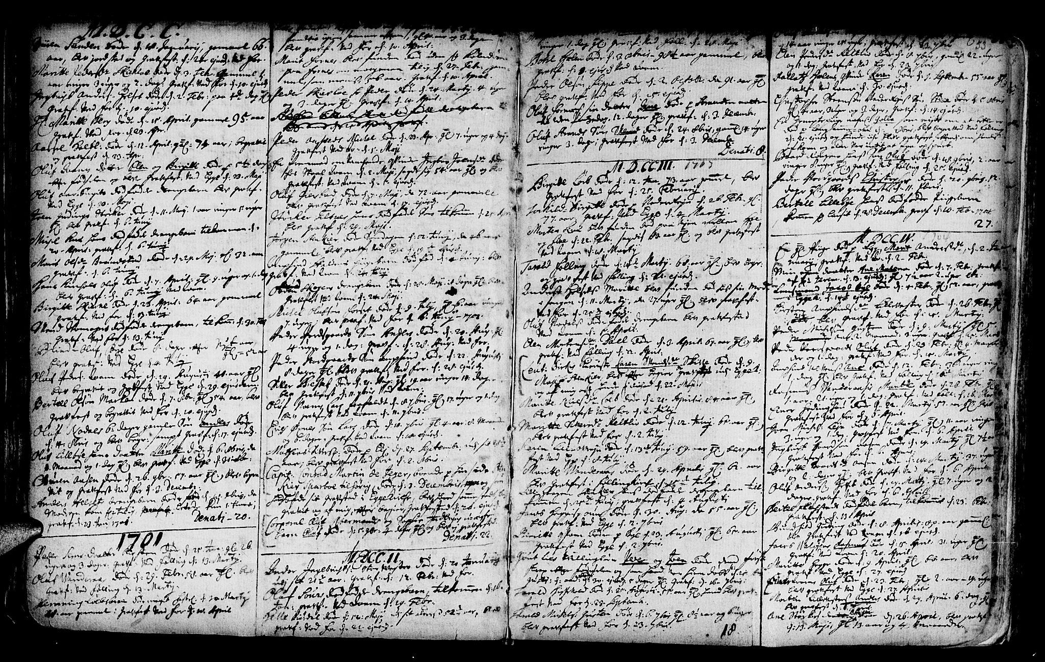 SAT, Ministerialprotokoller, klokkerbøker og fødselsregistre - Nord-Trøndelag, 746/L0439: Ministerialbok nr. 746A01, 1688-1759, s. 53