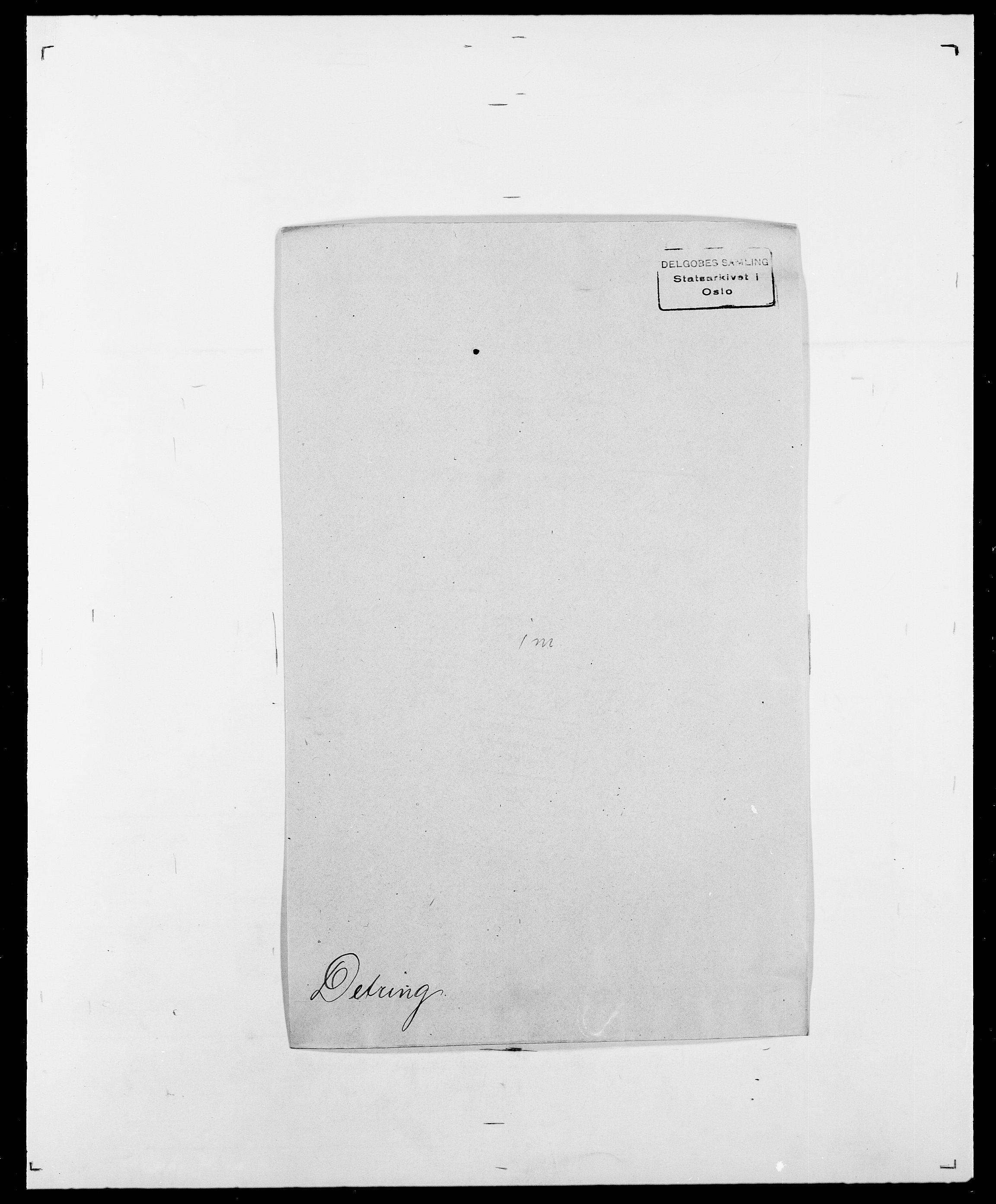 SAO, Delgobe, Charles Antoine - samling, D/Da/L0009: Dahl - v. Düren, s. 501