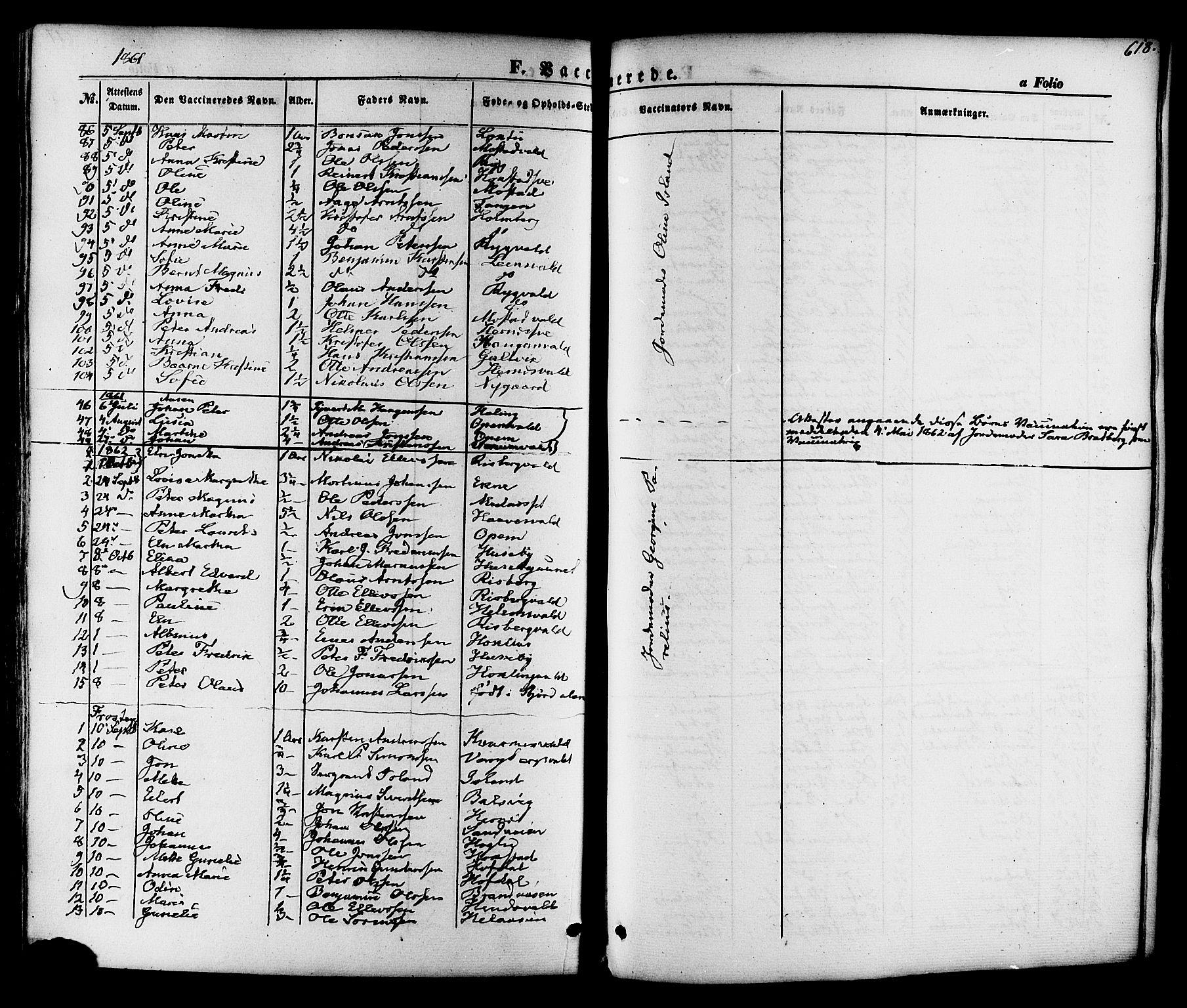 SAT, Ministerialprotokoller, klokkerbøker og fødselsregistre - Nord-Trøndelag, 713/L0116: Ministerialbok nr. 713A07 /1, 1850-1877, s. 618