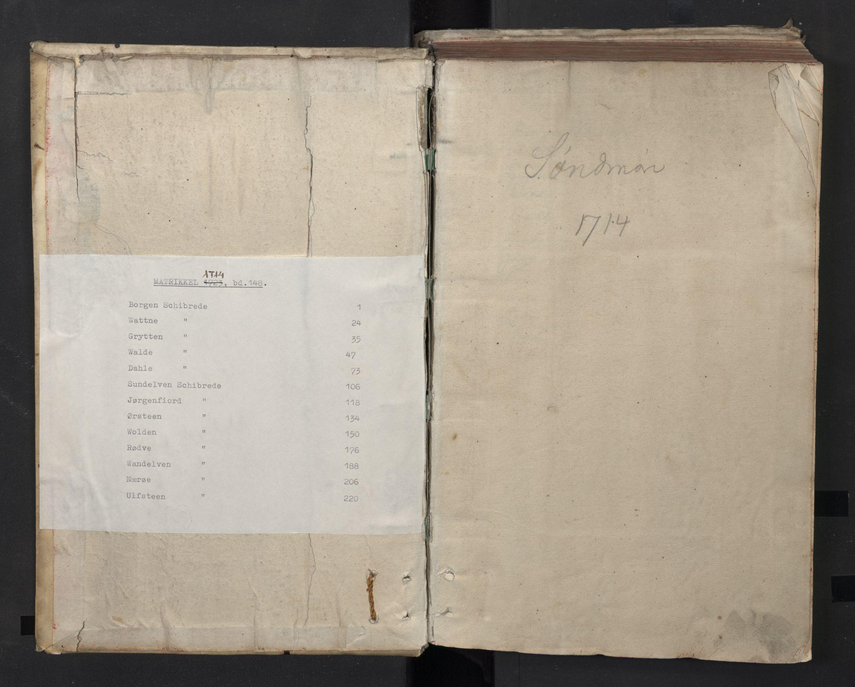 RA, Rentekammeret inntil 1814, Realistisk ordnet avdeling, N/Nb/Nbf/L0148: Sunnmøre, prøvematrikkel, 1714, s. upaginert
