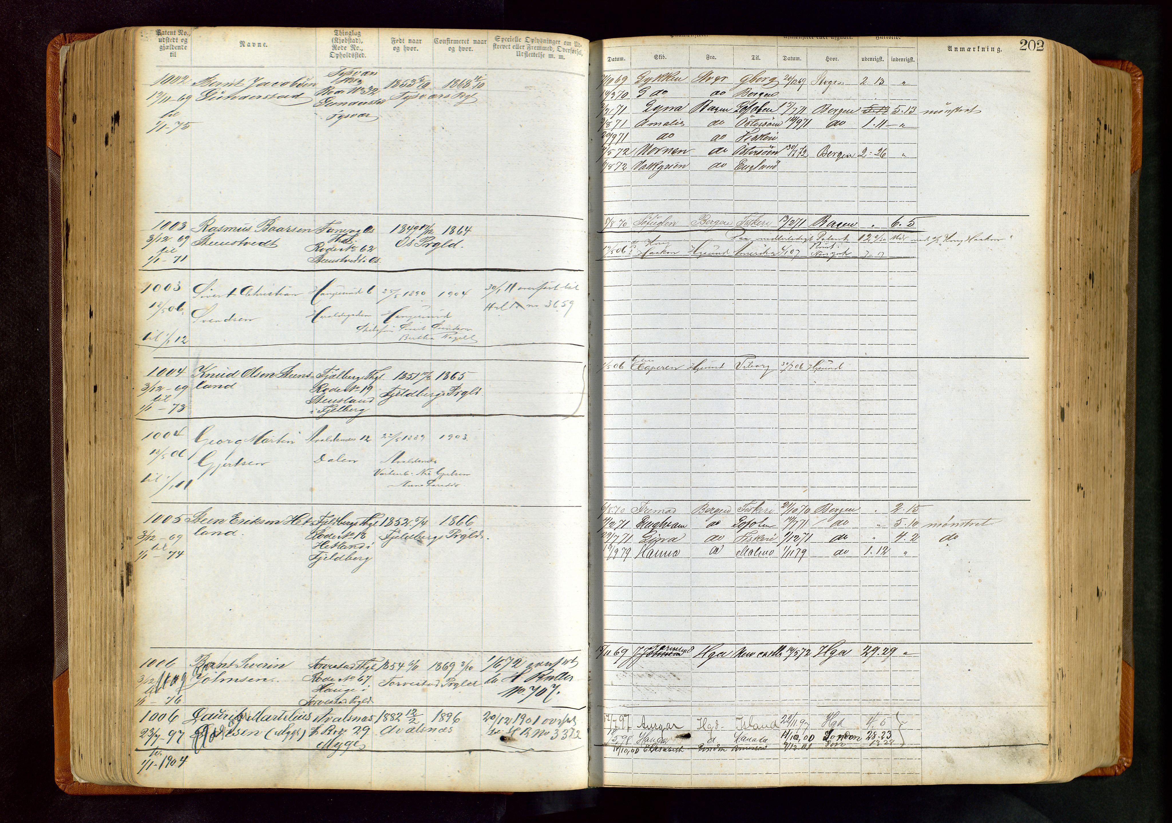 SAST, Haugesund sjømannskontor, F/Ff/L0004: Sjøfartsrulle Haugesund krets nr. 1 - 3586, 1868-1948, s. 202