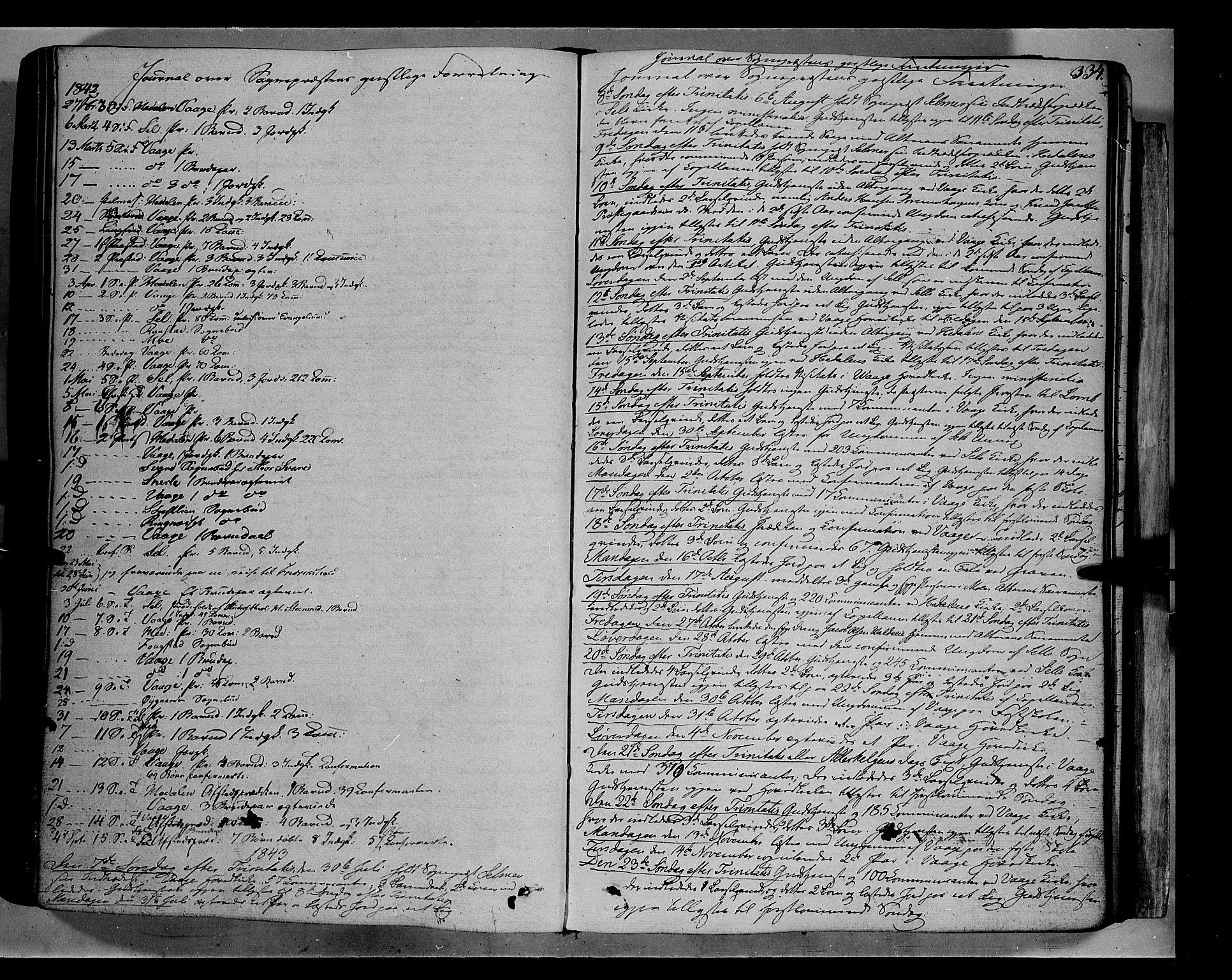 SAH, Vågå prestekontor, Ministerialbok nr. 5 /1, 1842-1856, s. 334