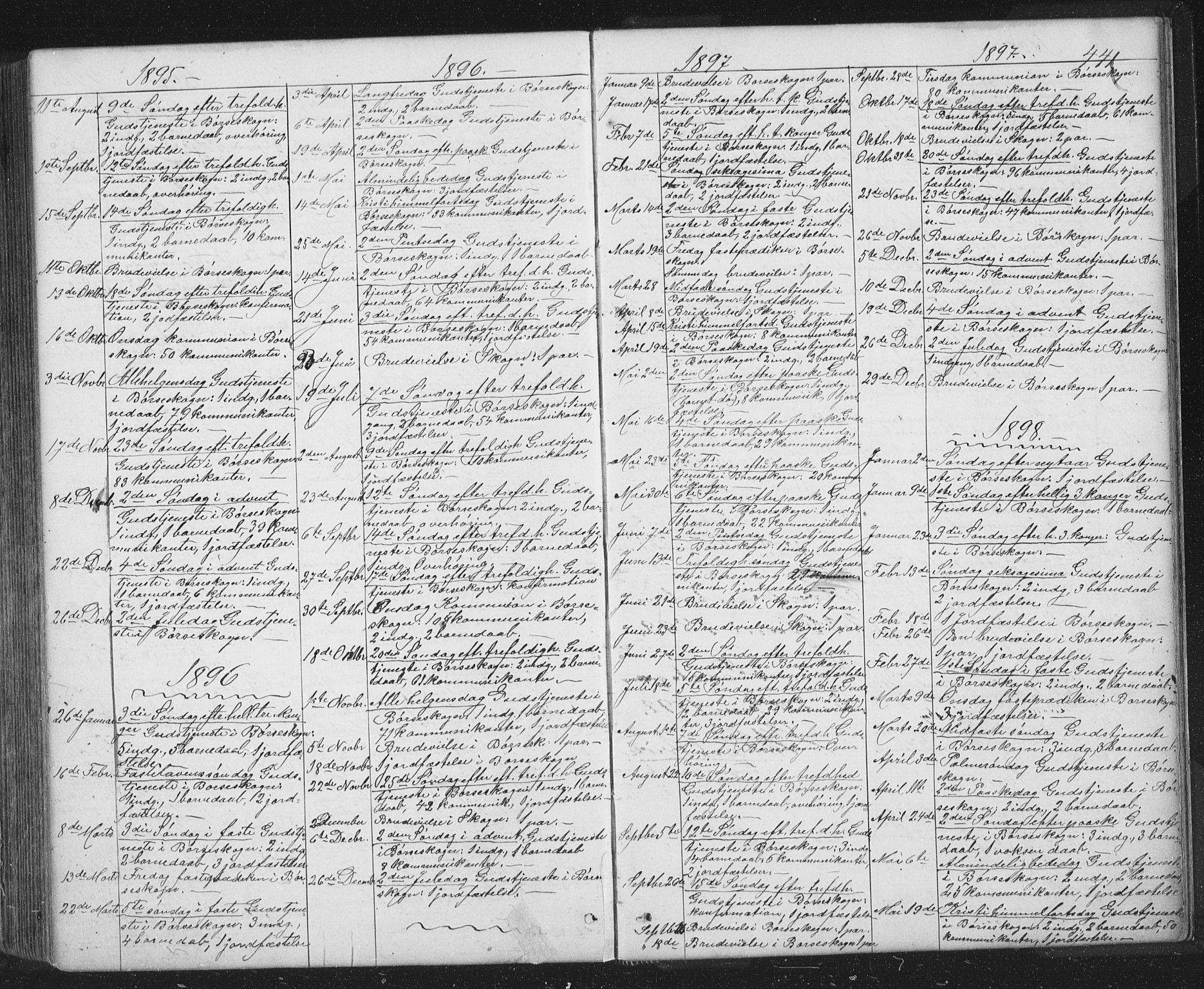 SAT, Ministerialprotokoller, klokkerbøker og fødselsregistre - Sør-Trøndelag, 667/L0798: Klokkerbok nr. 667C03, 1867-1929, s. 441