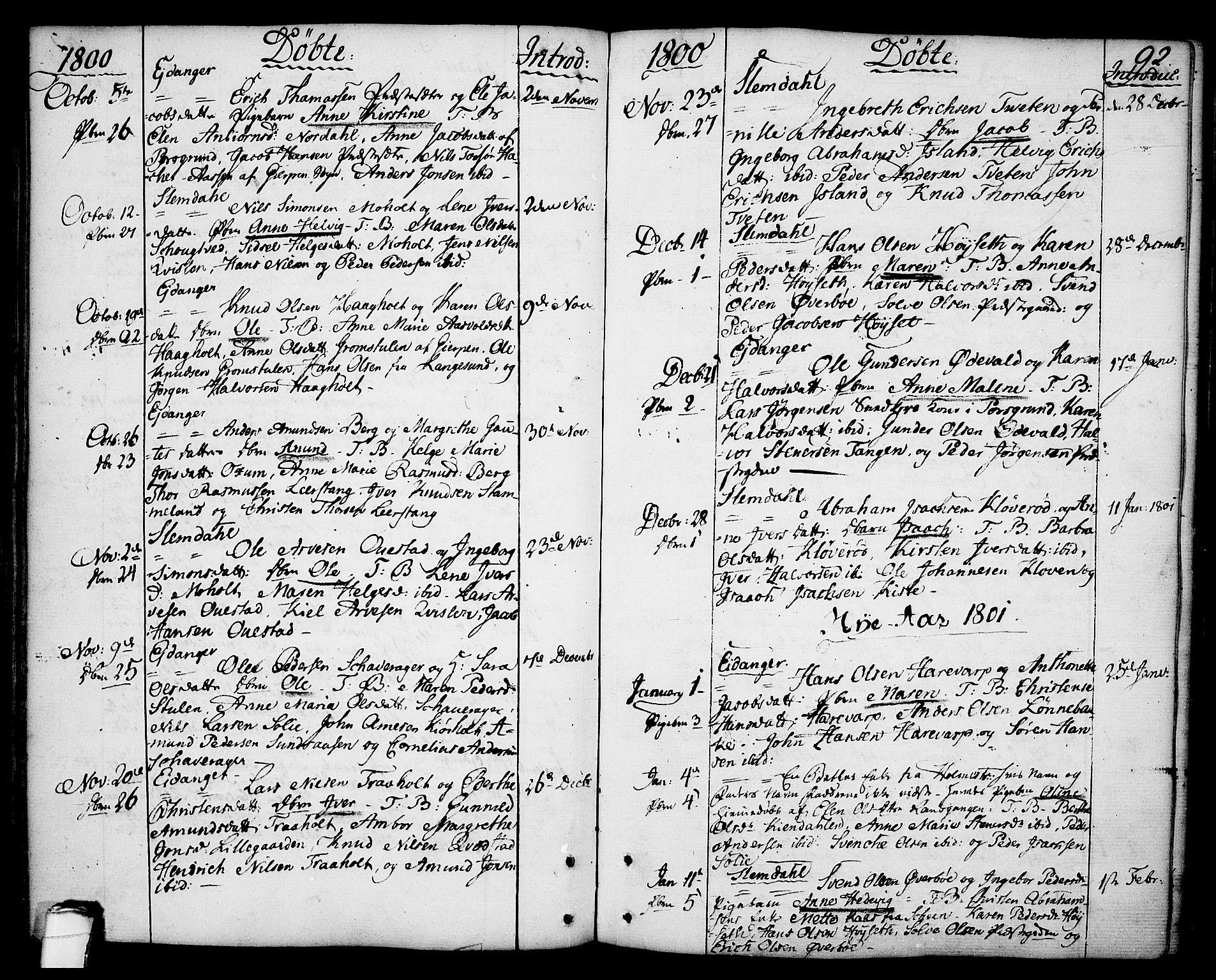 SAKO, Eidanger kirkebøker, F/Fa/L0006: Ministerialbok nr. 6, 1764-1814, s. 92
