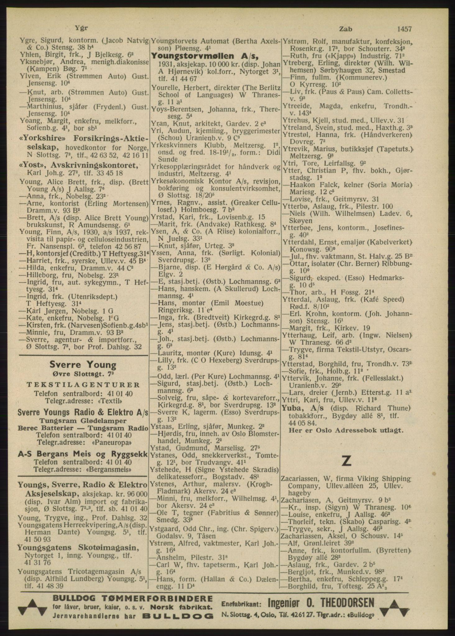 RA, Oslo adressebok (publikasjon)*, 1948, s. 1457