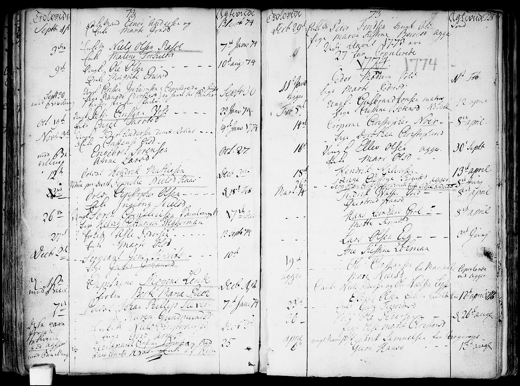 SAO, Garnisonsmenigheten Kirkebøker, F/Fa/L0002: Ministerialbok nr. 2, 1757-1776, s. 128