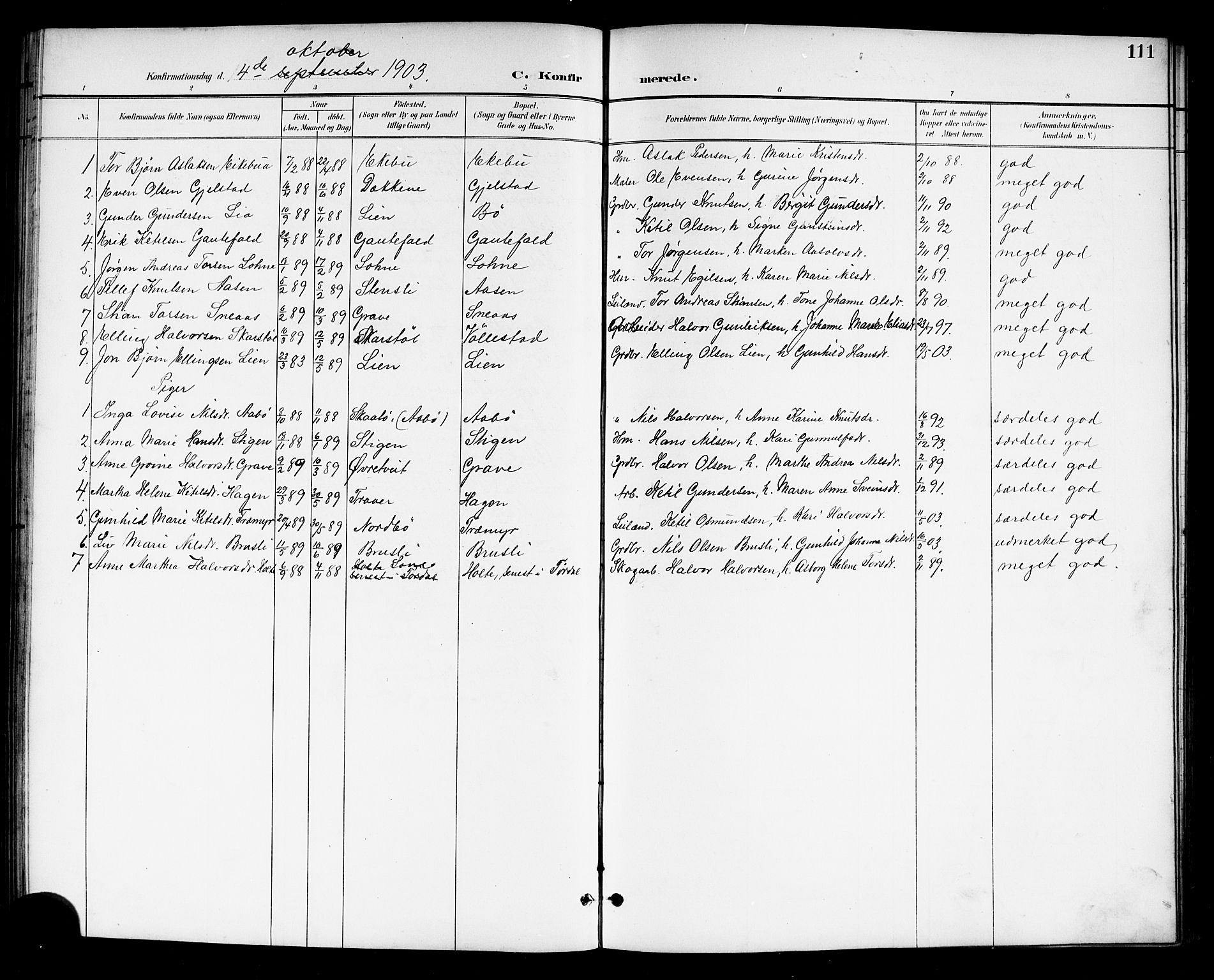 SAKO, Drangedal kirkebøker, G/Gb/L0002: Klokkerbok nr. II 2, 1895-1918, s. 111