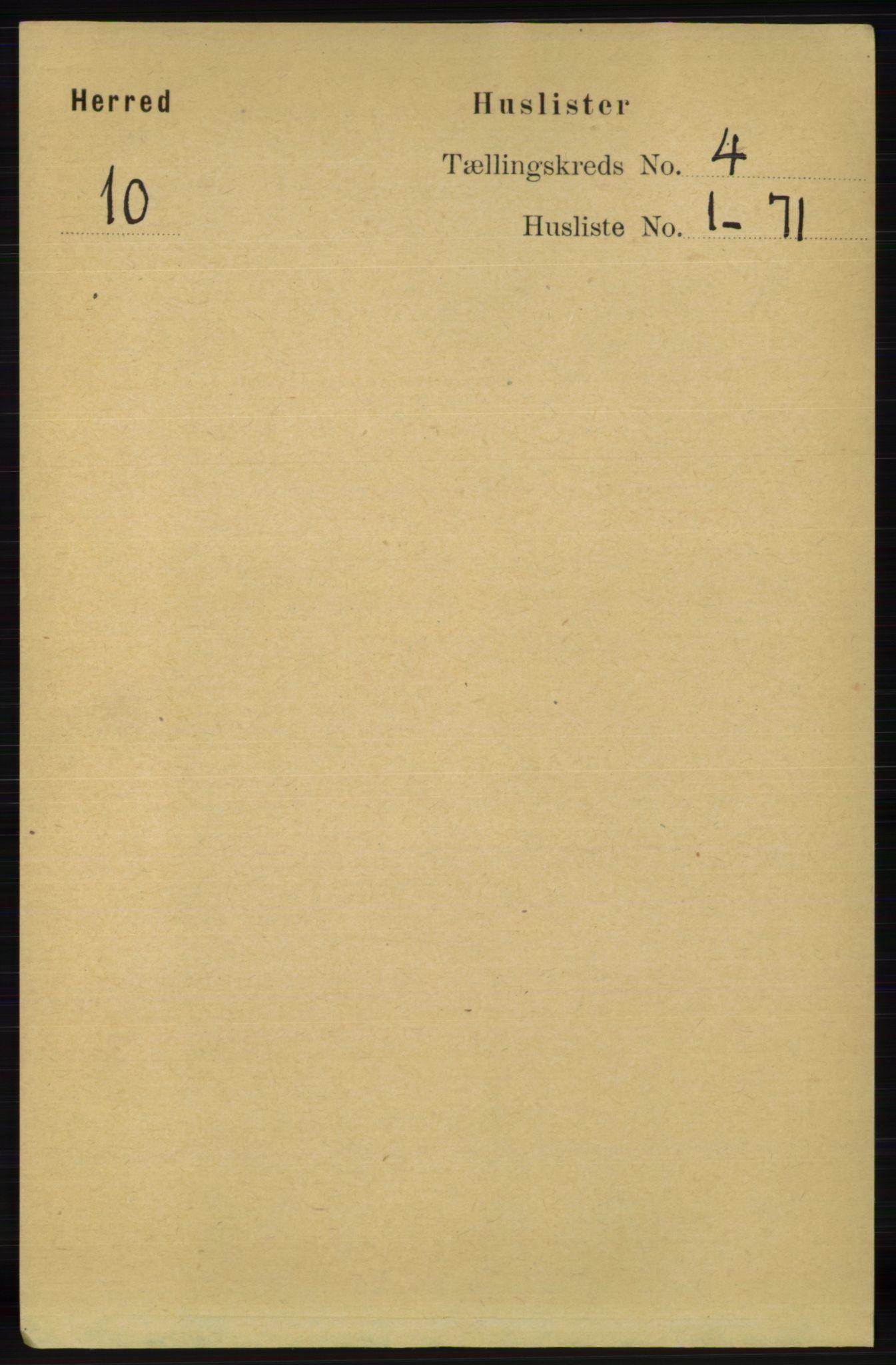 RA, Folketelling 1891 for 1039 Herad herred, 1891, s. 1343