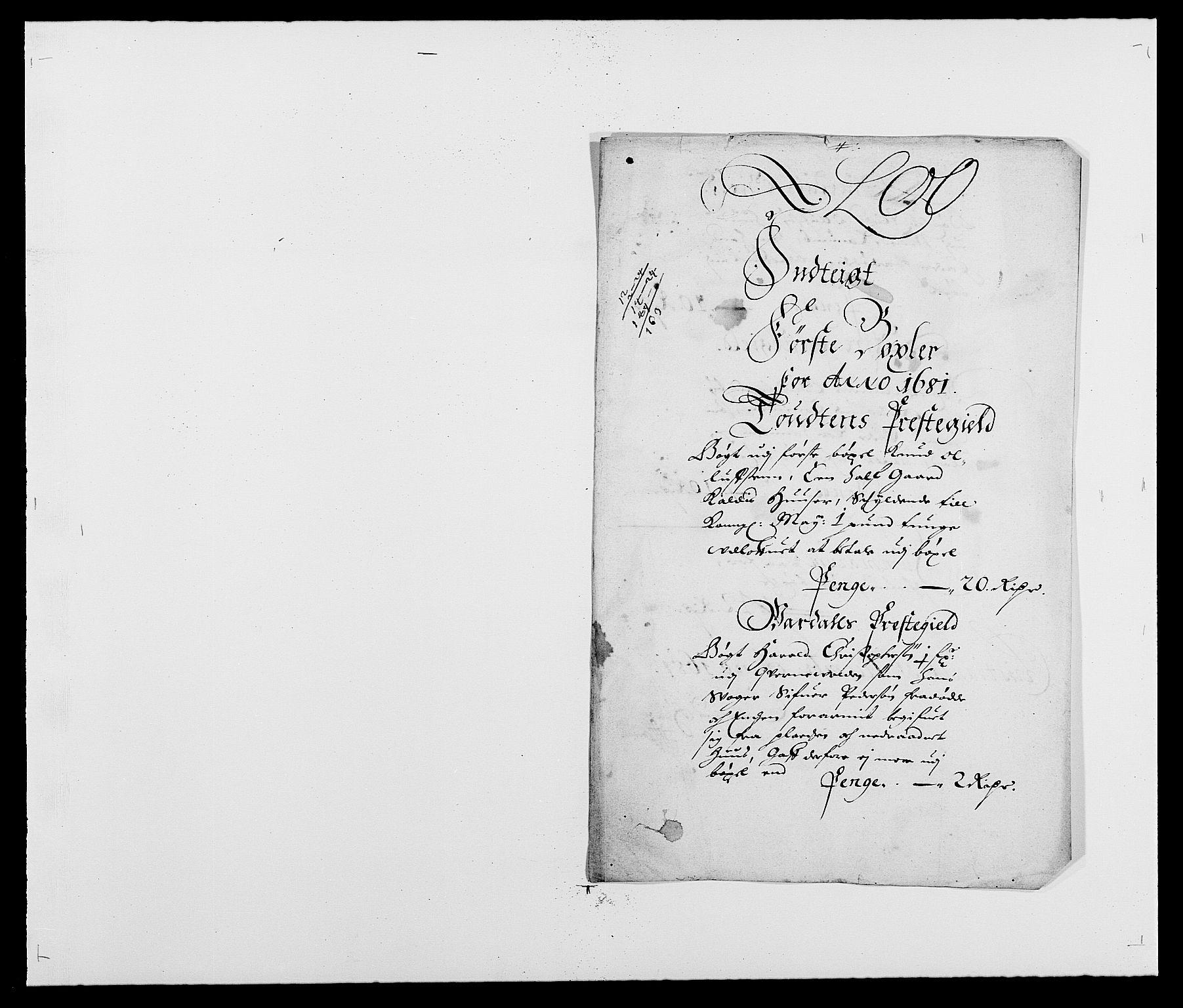 RA, Rentekammeret inntil 1814, Reviderte regnskaper, Fogderegnskap, R18/L1278: Fogderegnskap Hadeland, Toten og Valdres, 1681, s. 152