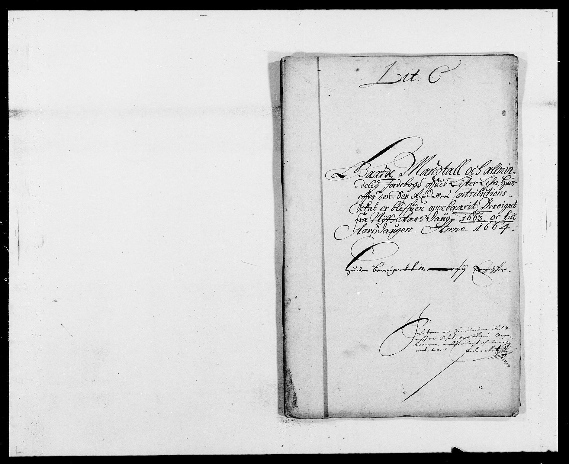 RA, Rentekammeret inntil 1814, Reviderte regnskaper, Fogderegnskap, R41/L2523: Fogderegnskap Lista, 1663-1664, s. 21