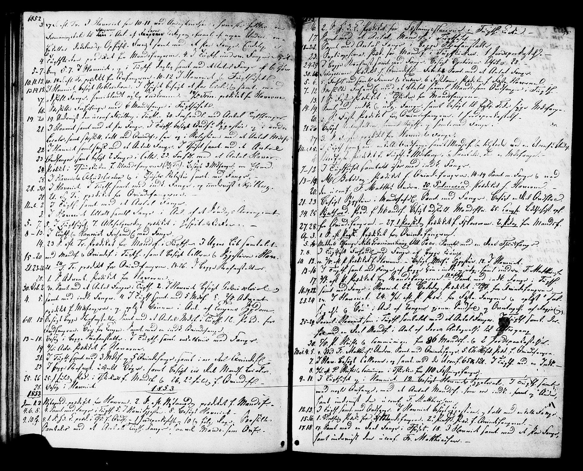 SAT, Ministerialprotokoller, klokkerbøker og fødselsregistre - Sør-Trøndelag, 624/L0481: Ministerialbok nr. 624A02, 1841-1869, s. 35