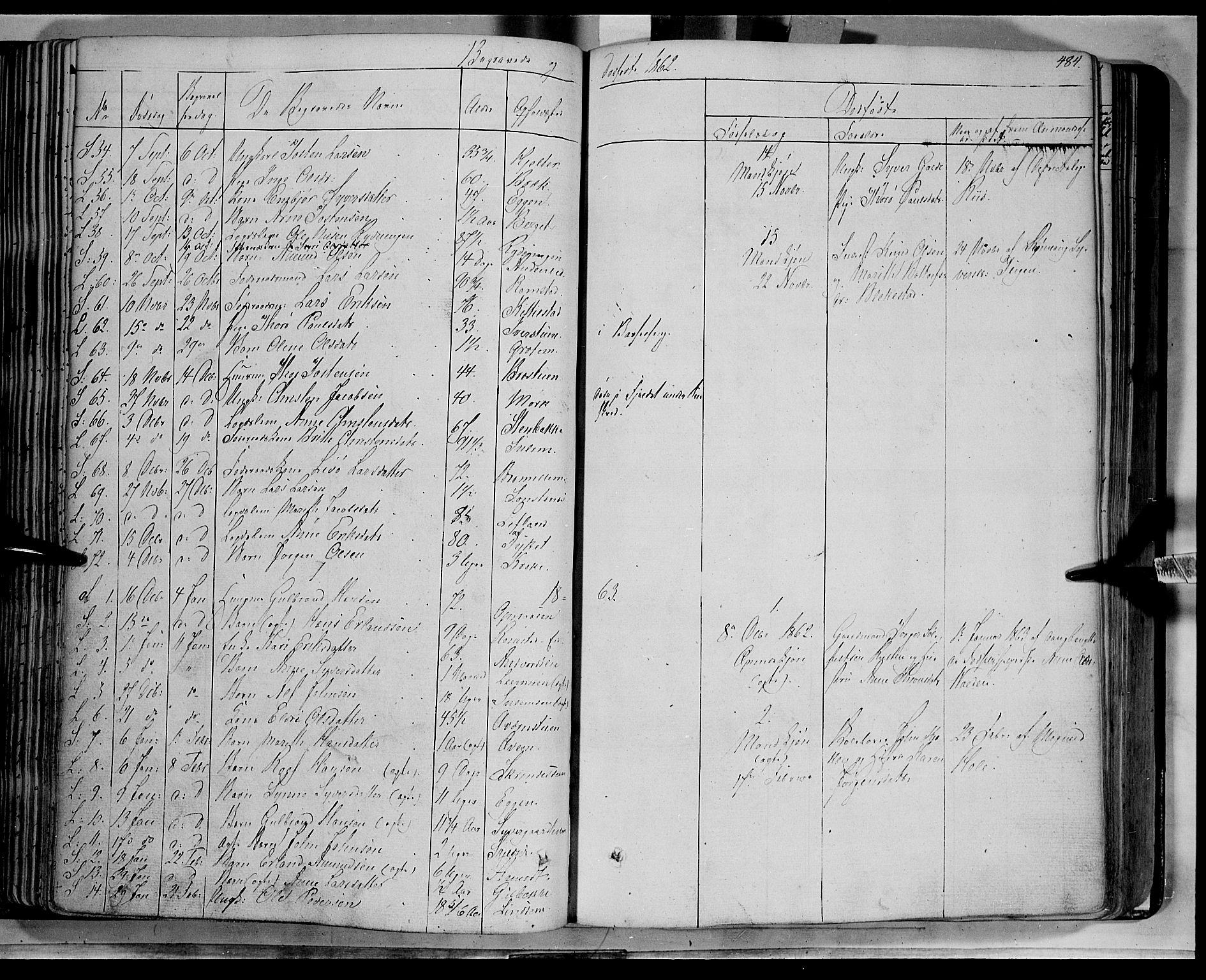 SAH, Lom prestekontor, K/L0006: Ministerialbok nr. 6B, 1837-1863, s. 484
