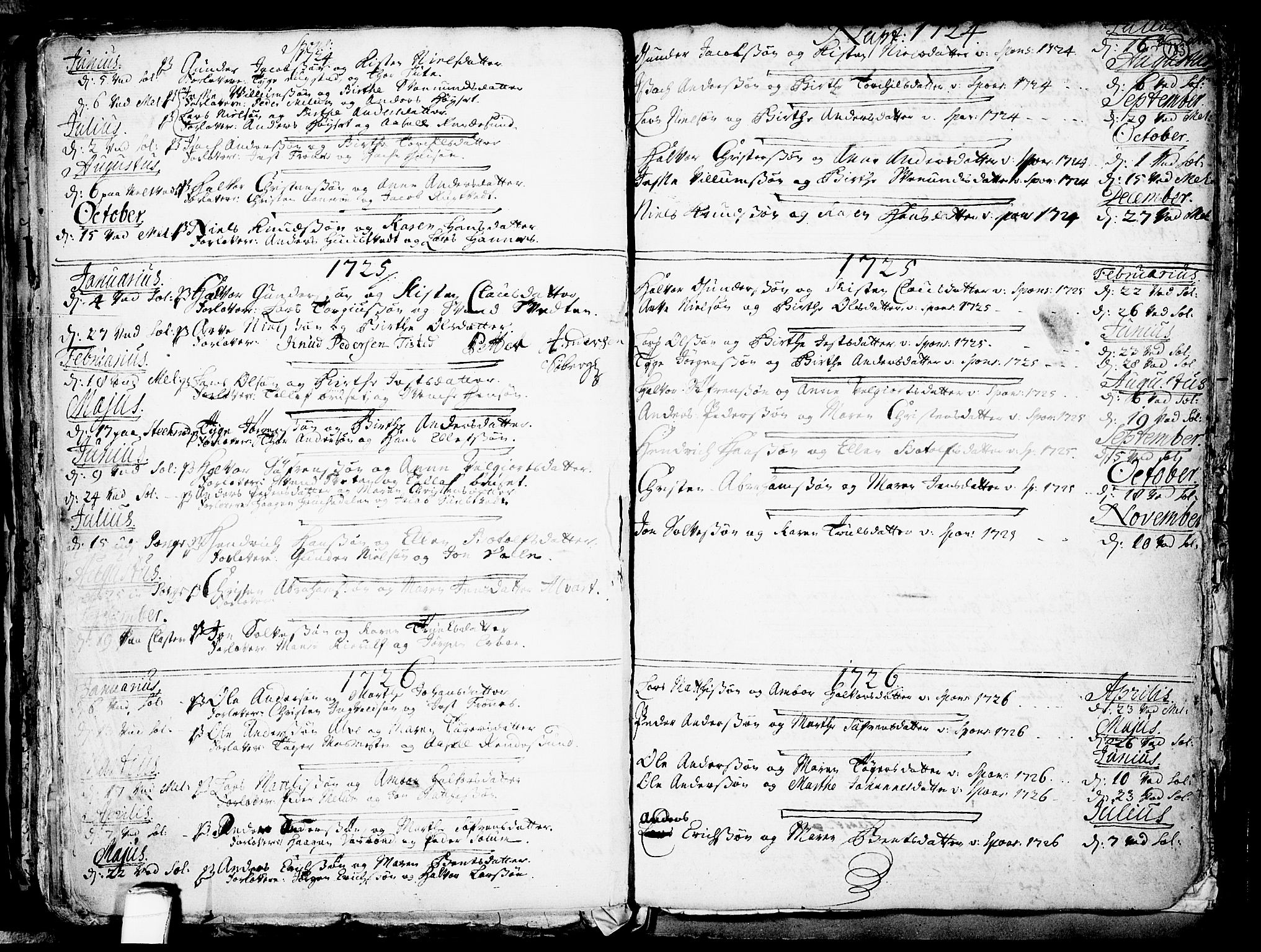 SAKO, Solum kirkebøker, F/Fa/L0002: Ministerialbok nr. I 2, 1713-1761, s. 183
