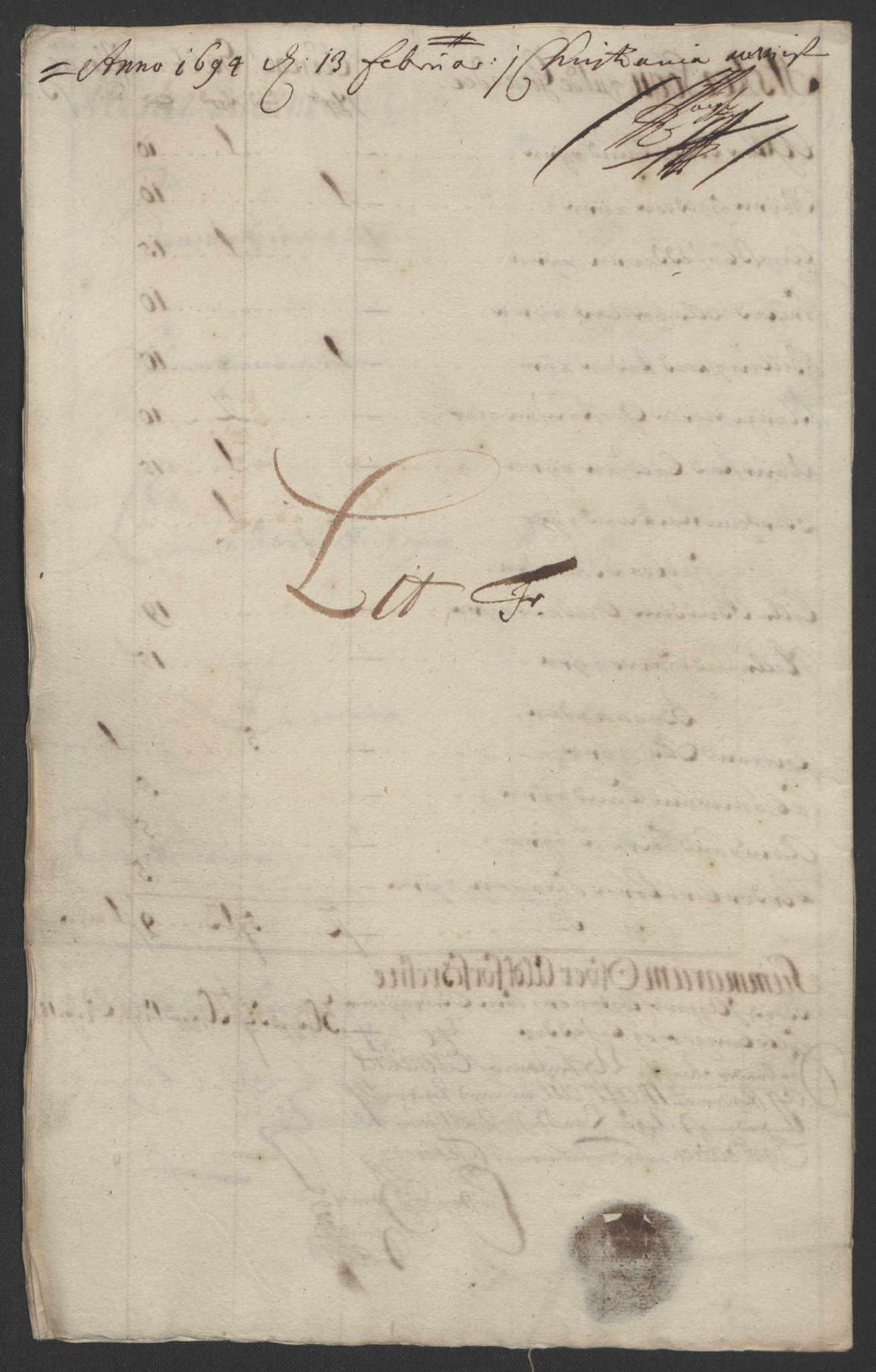 RA, Rentekammeret inntil 1814, Reviderte regnskaper, Fogderegnskap, R08/L0426: Fogderegnskap Aker, 1692-1693, s. 343