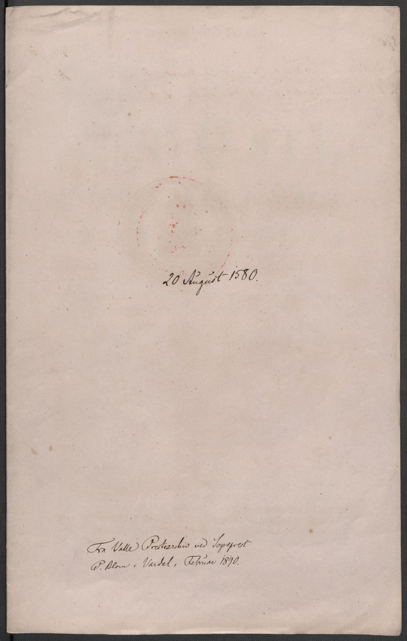 RA, Riksarkivets diplomsamling, F02/L0082: Dokumenter, 1580, s. 40