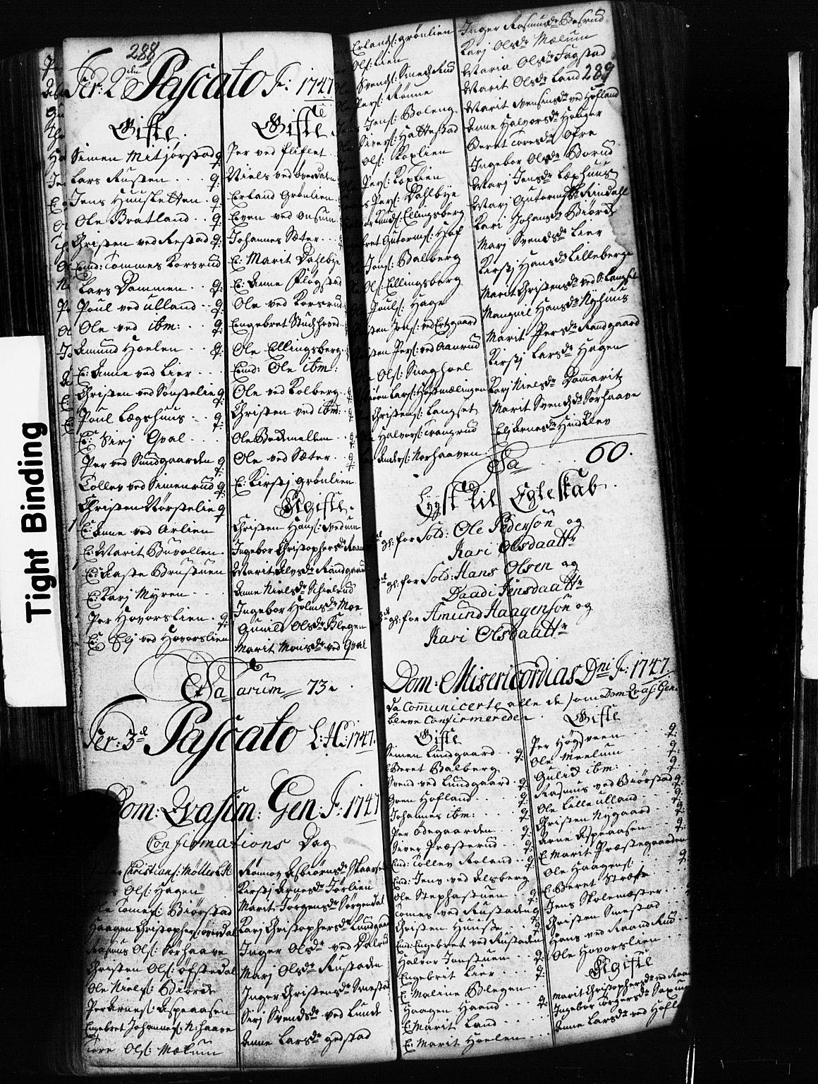 SAH, Fåberg prestekontor, Klokkerbok nr. 2, 1741-1756, s. 288-289