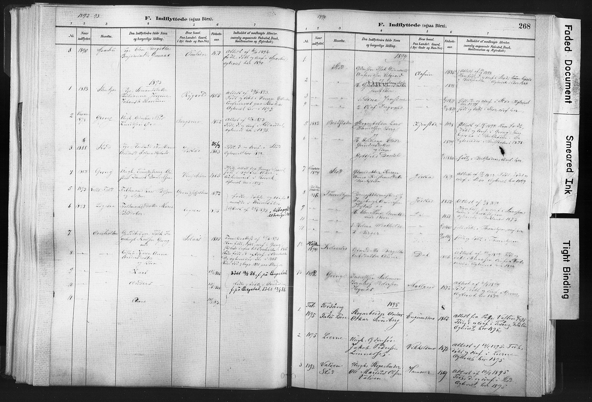 SAT, Ministerialprotokoller, klokkerbøker og fødselsregistre - Nord-Trøndelag, 749/L0474: Ministerialbok nr. 749A08, 1887-1903, s. 268