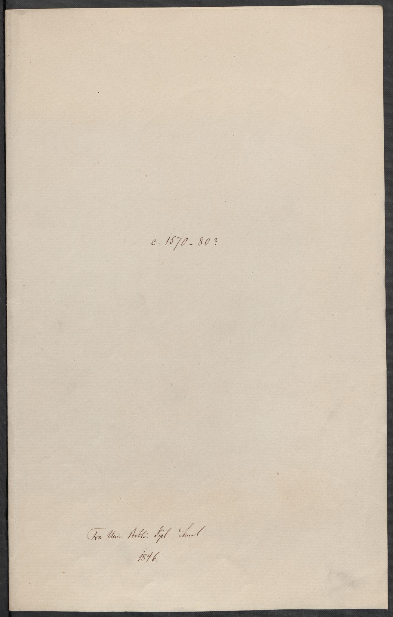 RA, Riksarkivets diplomsamling, F02/L0082: Dokumenter, 1580, s. 57