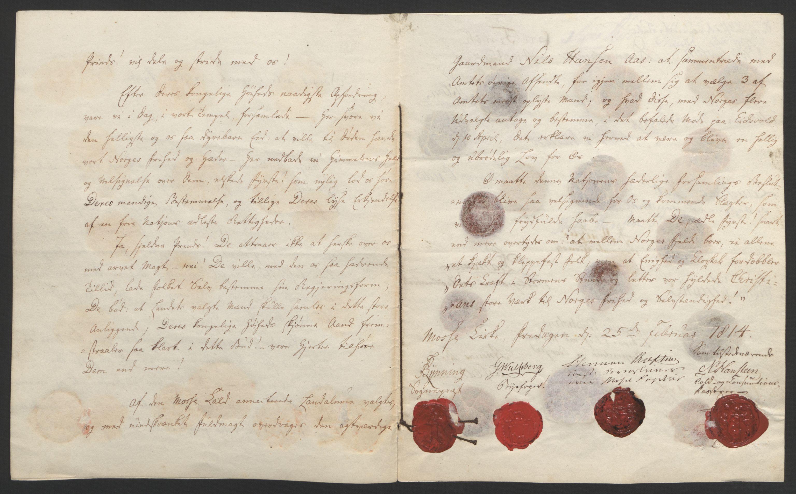 RA, Statsrådssekretariatet, D/Db/L0007: Fullmakter for Eidsvollsrepresentantene i 1814. , 1814, s. 155