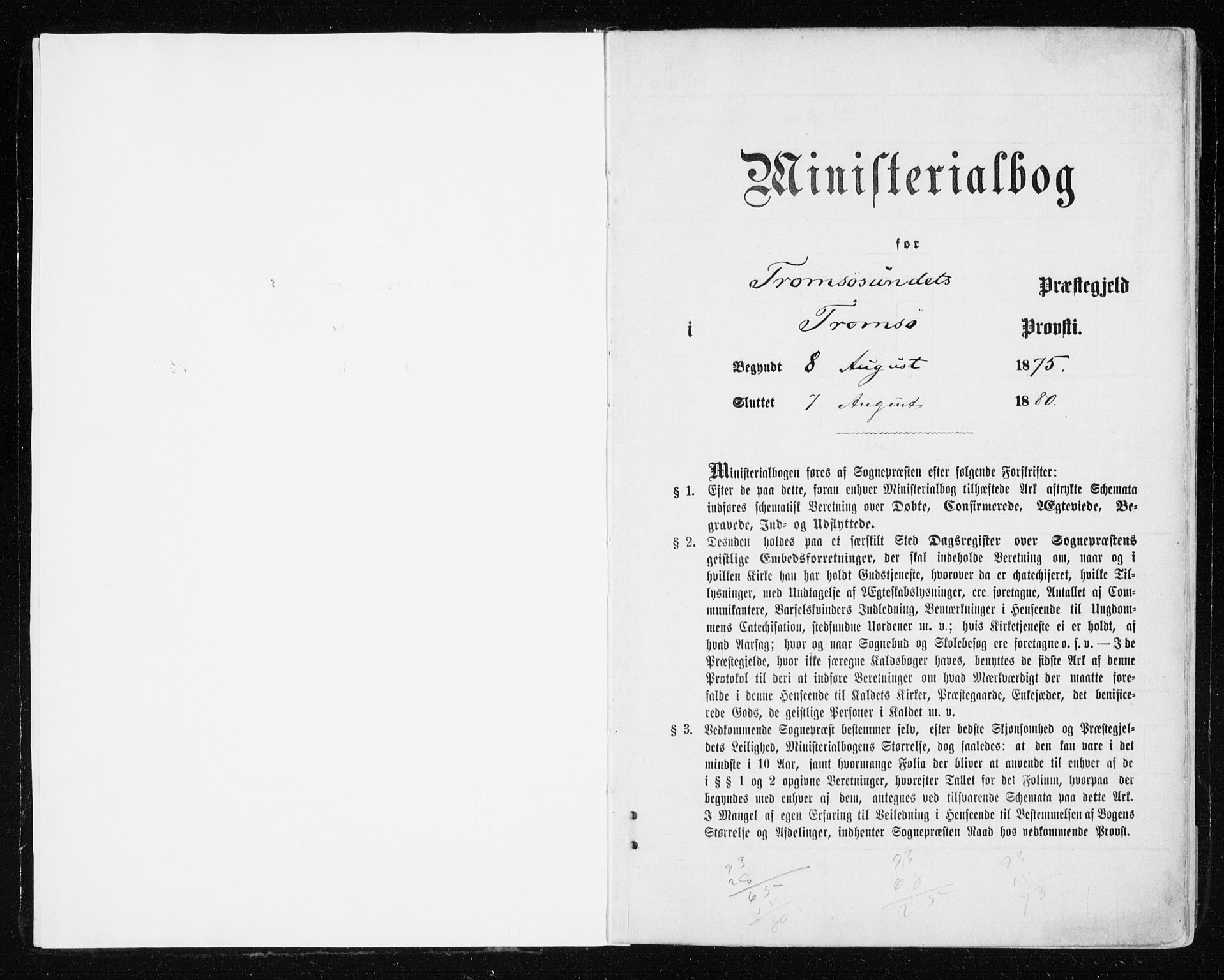 SATØ, Tromsøysund sokneprestkontor, G/Ga/L0003kirke: Ministerialbok nr. 3, 1875-1880