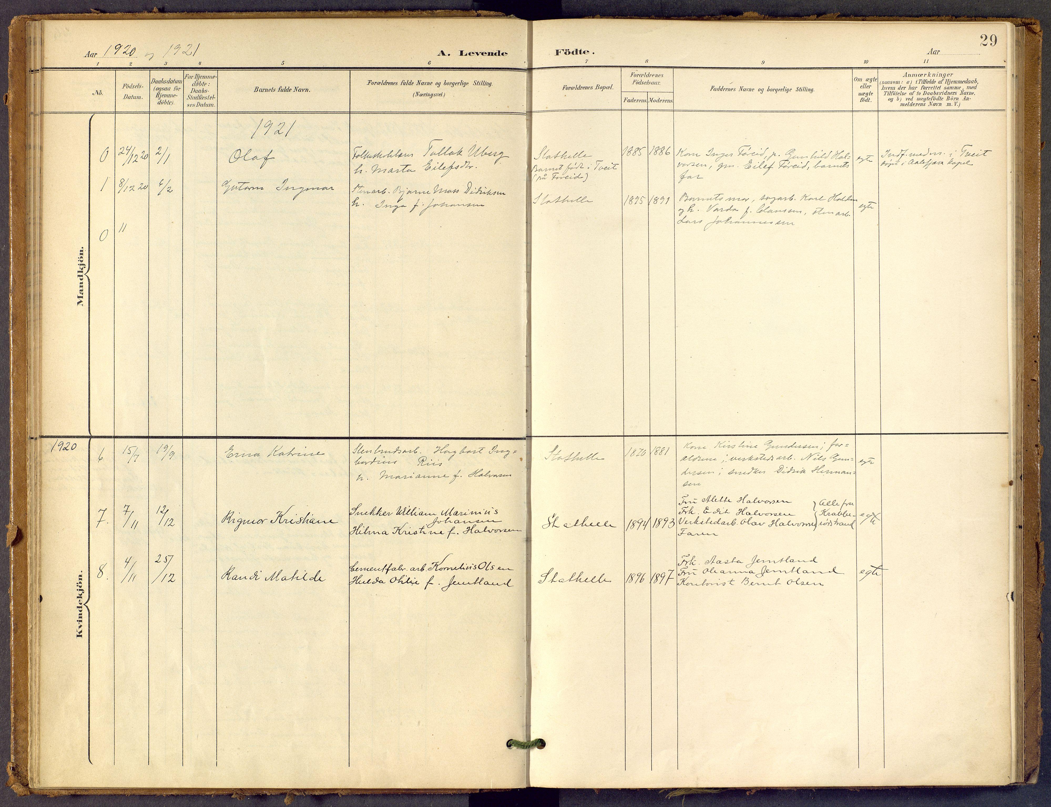 SAKO, Bamble kirkebøker, F/Fb/L0002: Ministerialbok nr. II 2, 1900-1921, s. 29