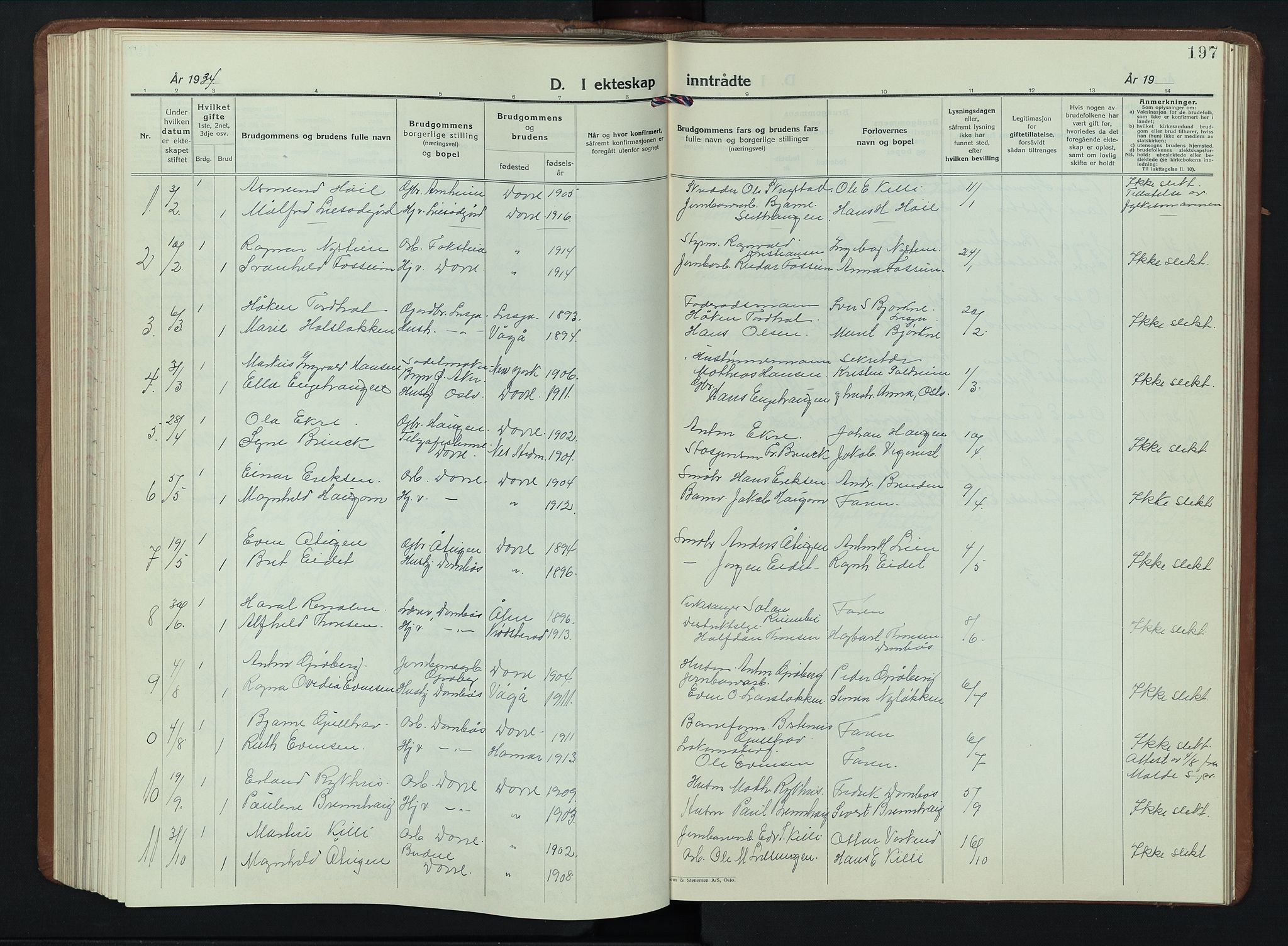 SAH, Dovre prestekontor, Klokkerbok nr. 4, 1926-1949, s. 197