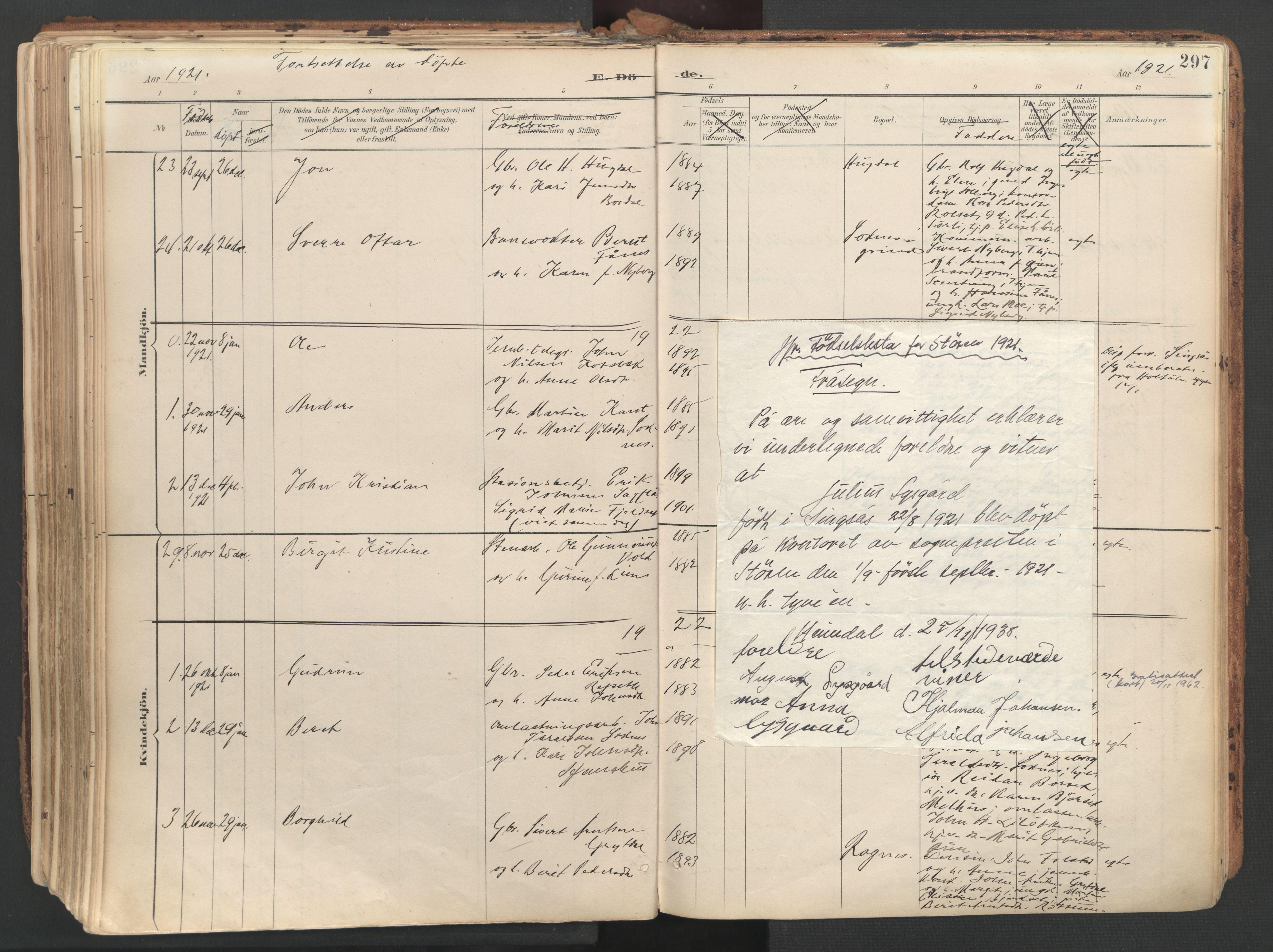 SAT, Ministerialprotokoller, klokkerbøker og fødselsregistre - Sør-Trøndelag, 687/L1004: Ministerialbok nr. 687A10, 1891-1923