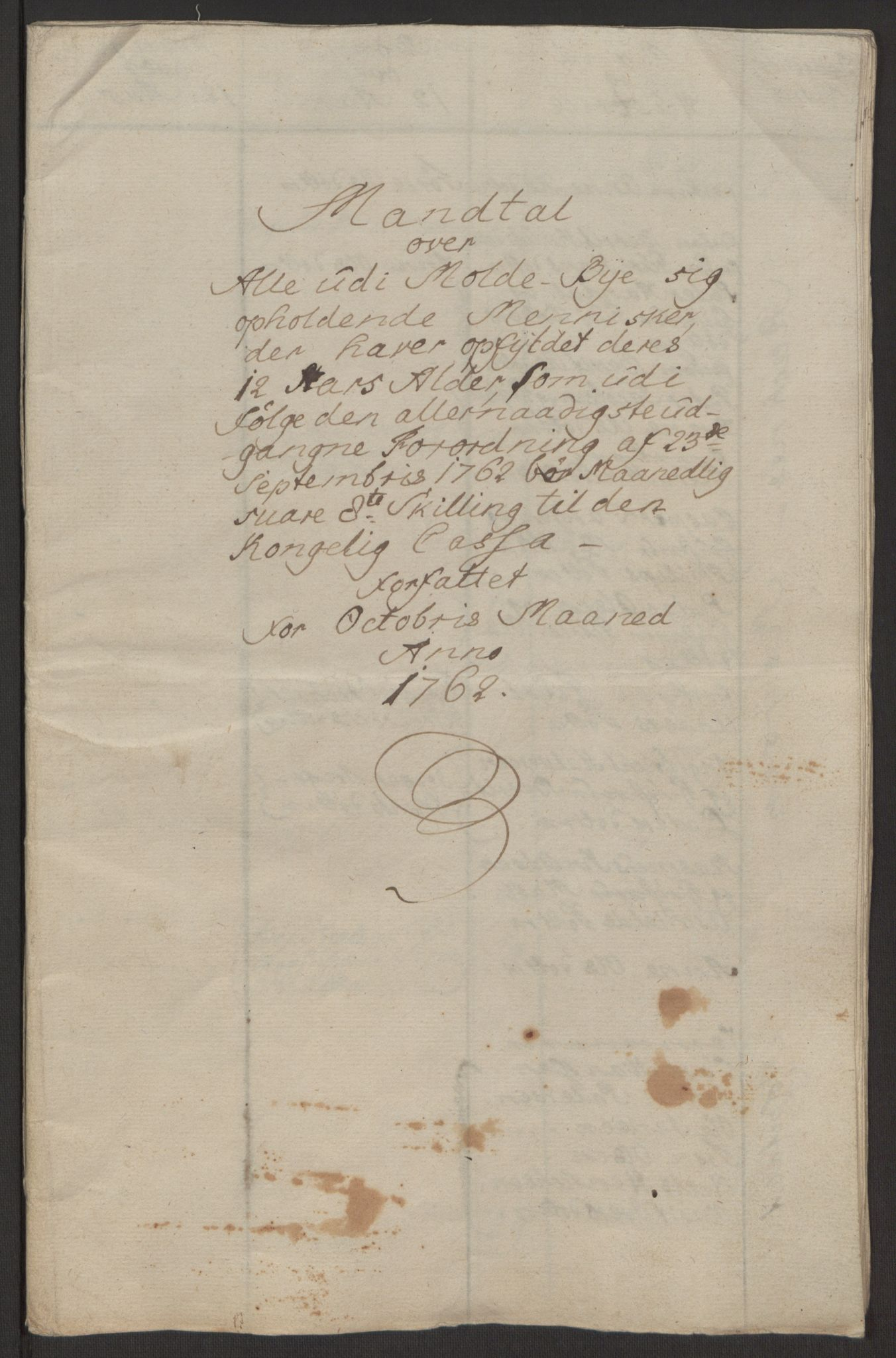 RA, Rentekammeret inntil 1814, Reviderte regnskaper, Byregnskaper, R/Rq/L0487: [Q1] Kontribusjonsregnskap, 1762-1772, s. 10