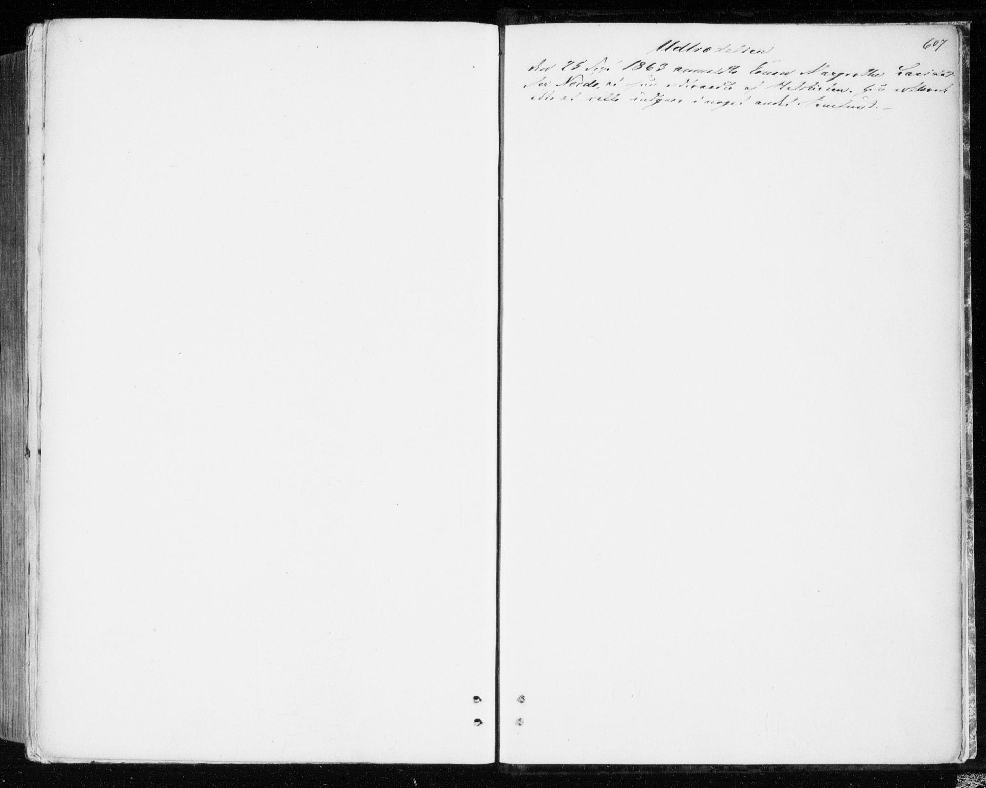 SAT, Ministerialprotokoller, klokkerbøker og fødselsregistre - Sør-Trøndelag, 606/L0292: Ministerialbok nr. 606A07, 1856-1865, s. 607