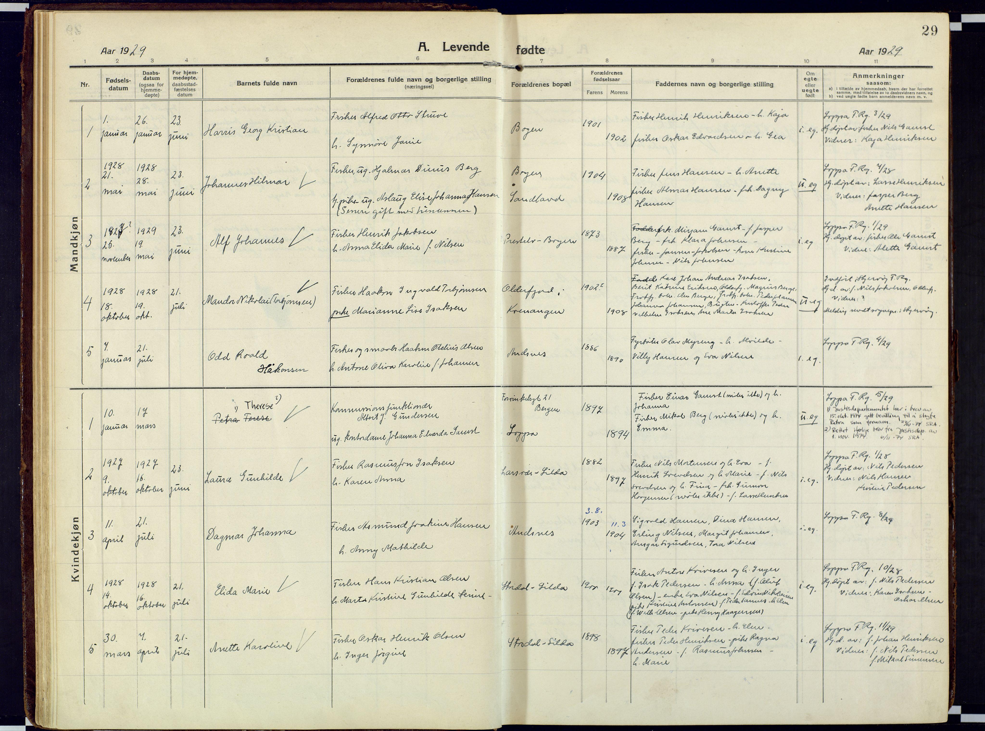 SATØ, Loppa sokneprestkontor, H/Ha/L0013kirke: Ministerialbok nr. 13, 1920-1932, s. 29