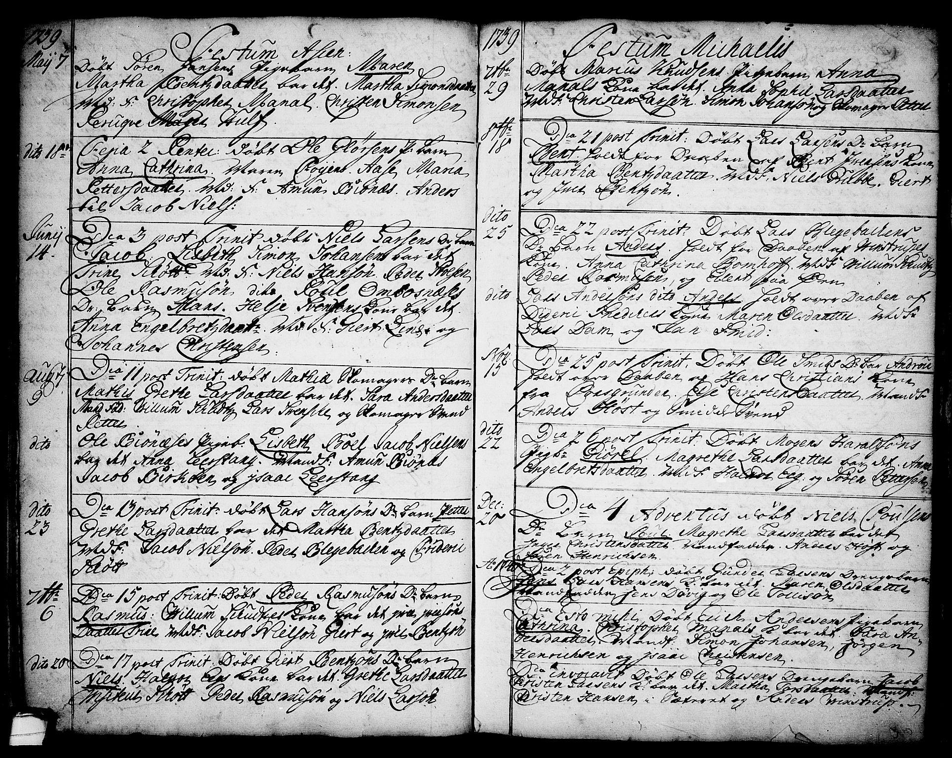 SAKO, Brevik kirkebøker, F/Fa/L0002: Ministerialbok nr. 2, 1720-1764, s. 34k