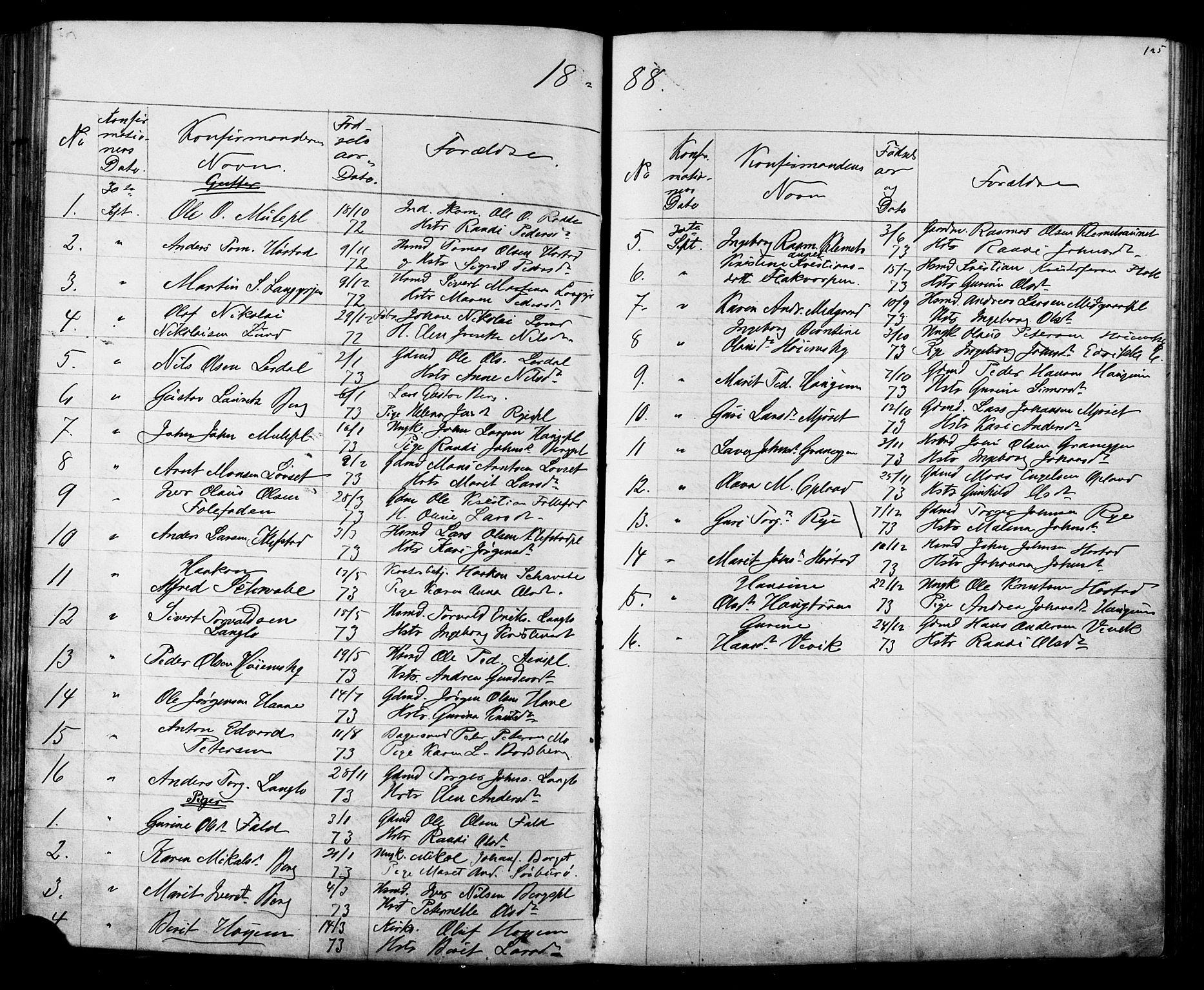 SAT, Ministerialprotokoller, klokkerbøker og fødselsregistre - Sør-Trøndelag, 612/L0387: Klokkerbok nr. 612C03, 1874-1908, s. 125
