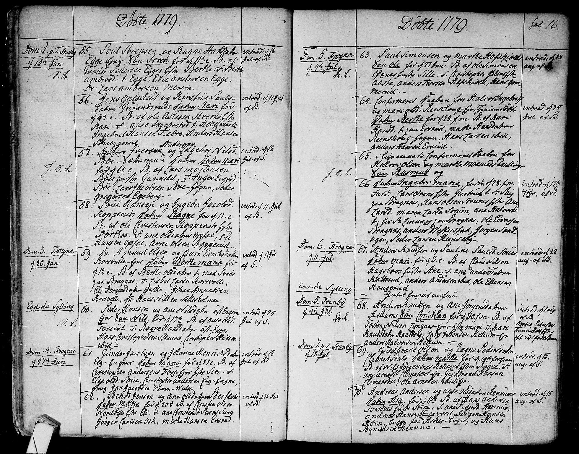 SAKO, Lier kirkebøker, F/Fa/L0006: Ministerialbok nr. I 6, 1777-1794, s. 16