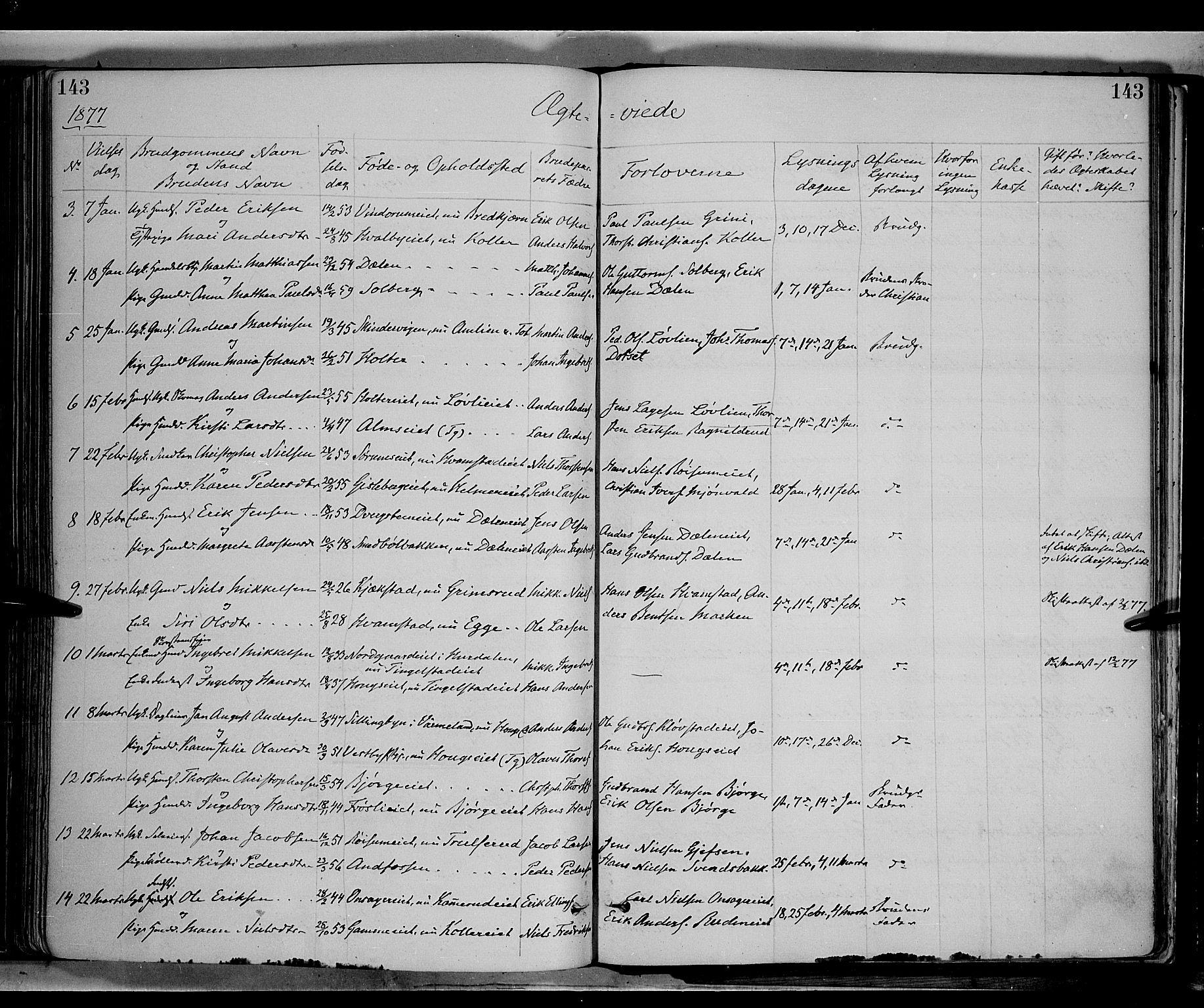 SAH, Gran prestekontor, Ministerialbok nr. 13, 1875-1879, s. 143
