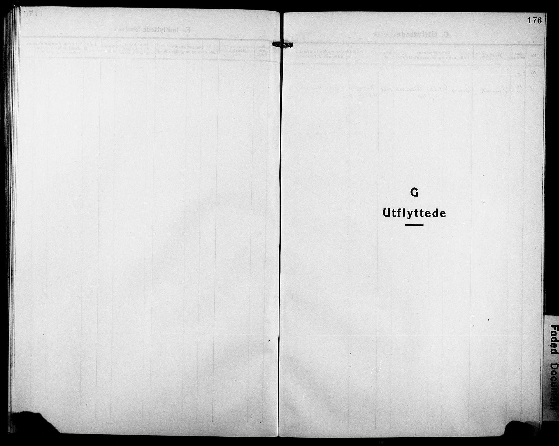 SATØ, Tranøy sokneprestkontor, I/Ia/Iab/L0006klokker: Klokkerbok nr. 6, 1919-1932, s. 176