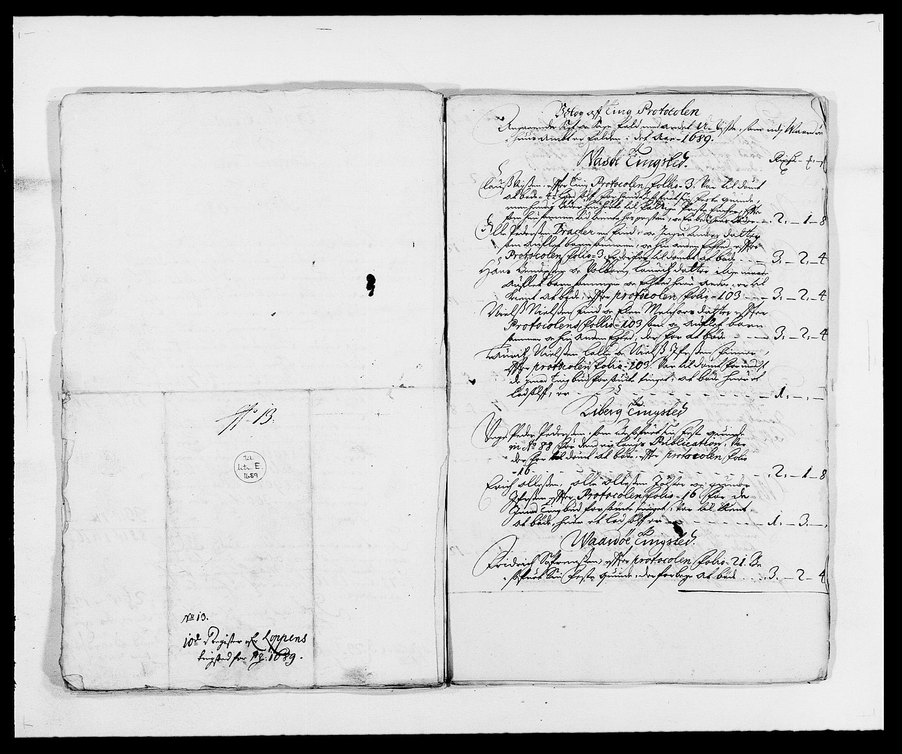 RA, Rentekammeret inntil 1814, Reviderte regnskaper, Fogderegnskap, R69/L4850: Fogderegnskap Finnmark/Vardøhus, 1680-1690, s. 179