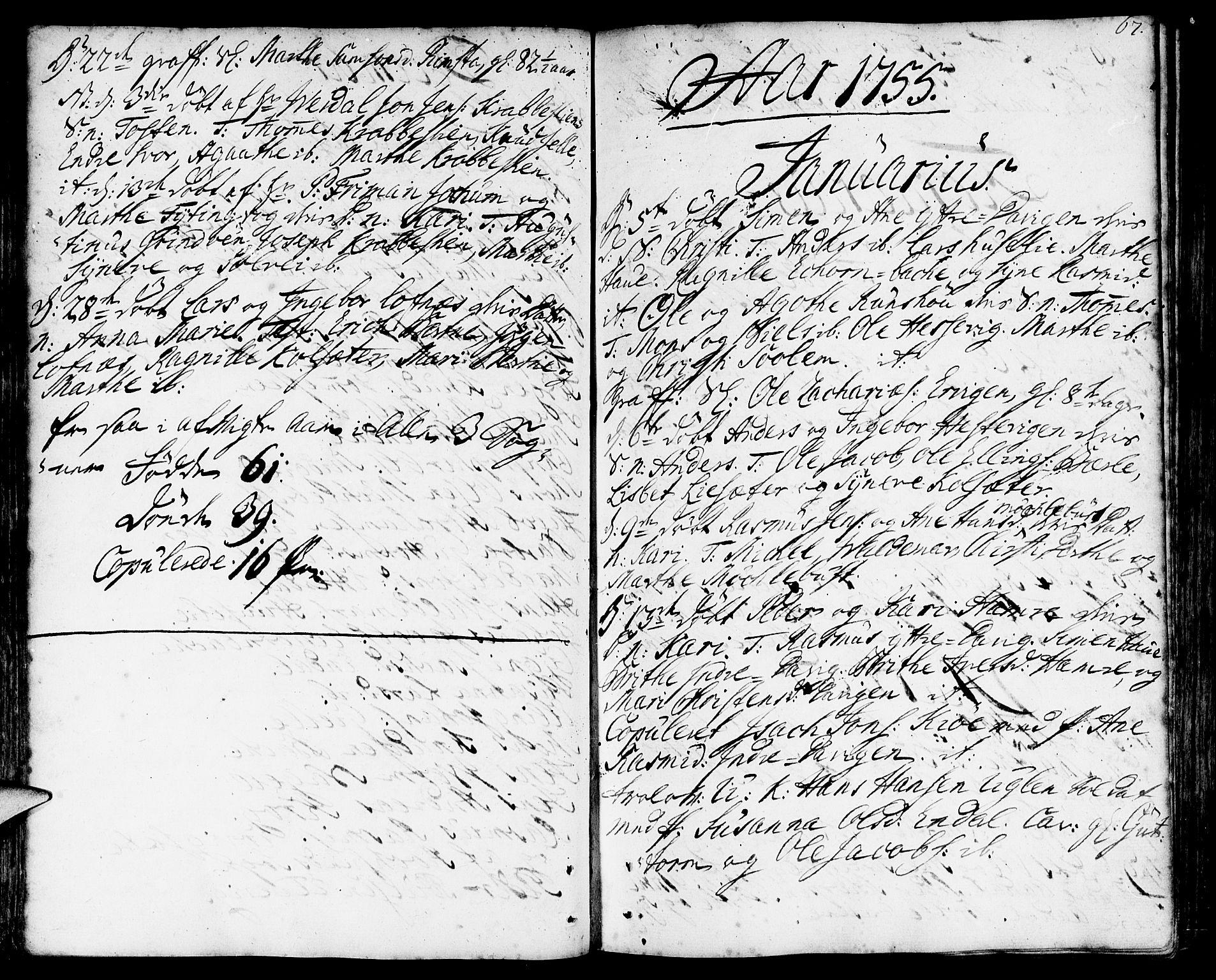 SAB, Davik sokneprestembete, Ministerialbok nr. A 2, 1742-1816, s. 67