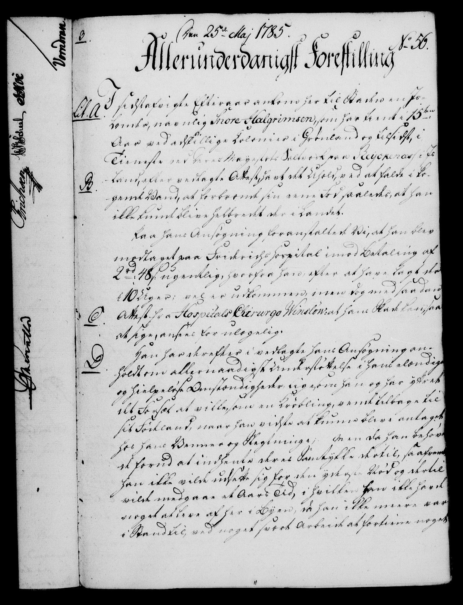 RA, Rentekammeret, Kammerkanselliet, G/Gf/Gfa/L0067: Norsk relasjons- og resolusjonsprotokoll (merket RK 52.67), 1785, s. 474