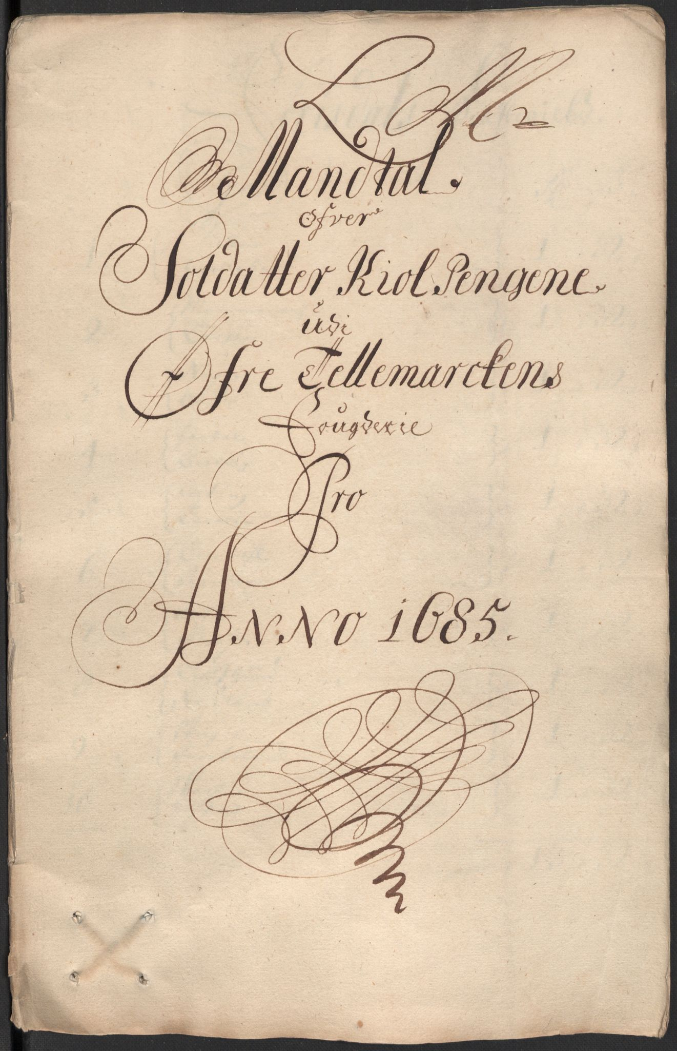 RA, Rentekammeret inntil 1814, Reviderte regnskaper, Fogderegnskap, R35/L2082: Fogderegnskap Øvre og Nedre Telemark, 1685, s. 331