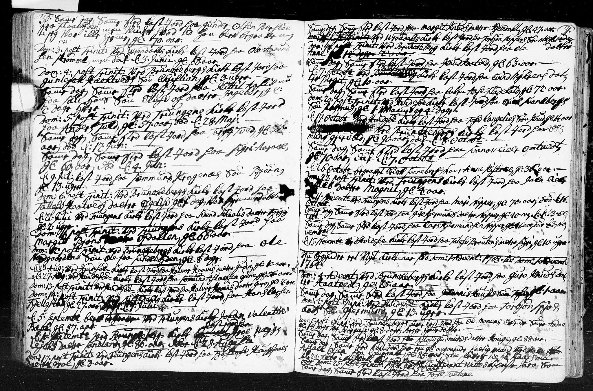 SAKO, Kviteseid kirkebøker, F/Fa/L0001: Ministerialbok nr. I 1, 1754-1773, s. 30-31