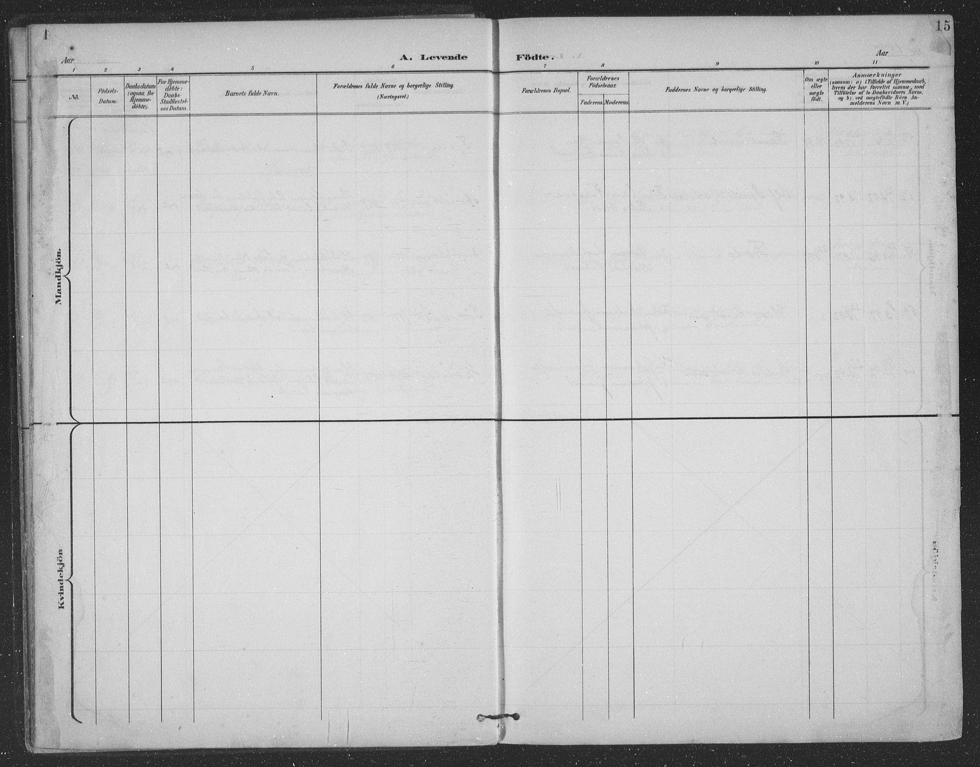 SAT, Ministerialprotokoller, klokkerbøker og fødselsregistre - Nordland, 863/L0899: Ministerialbok nr. 863A11, 1897-1906, s. 15