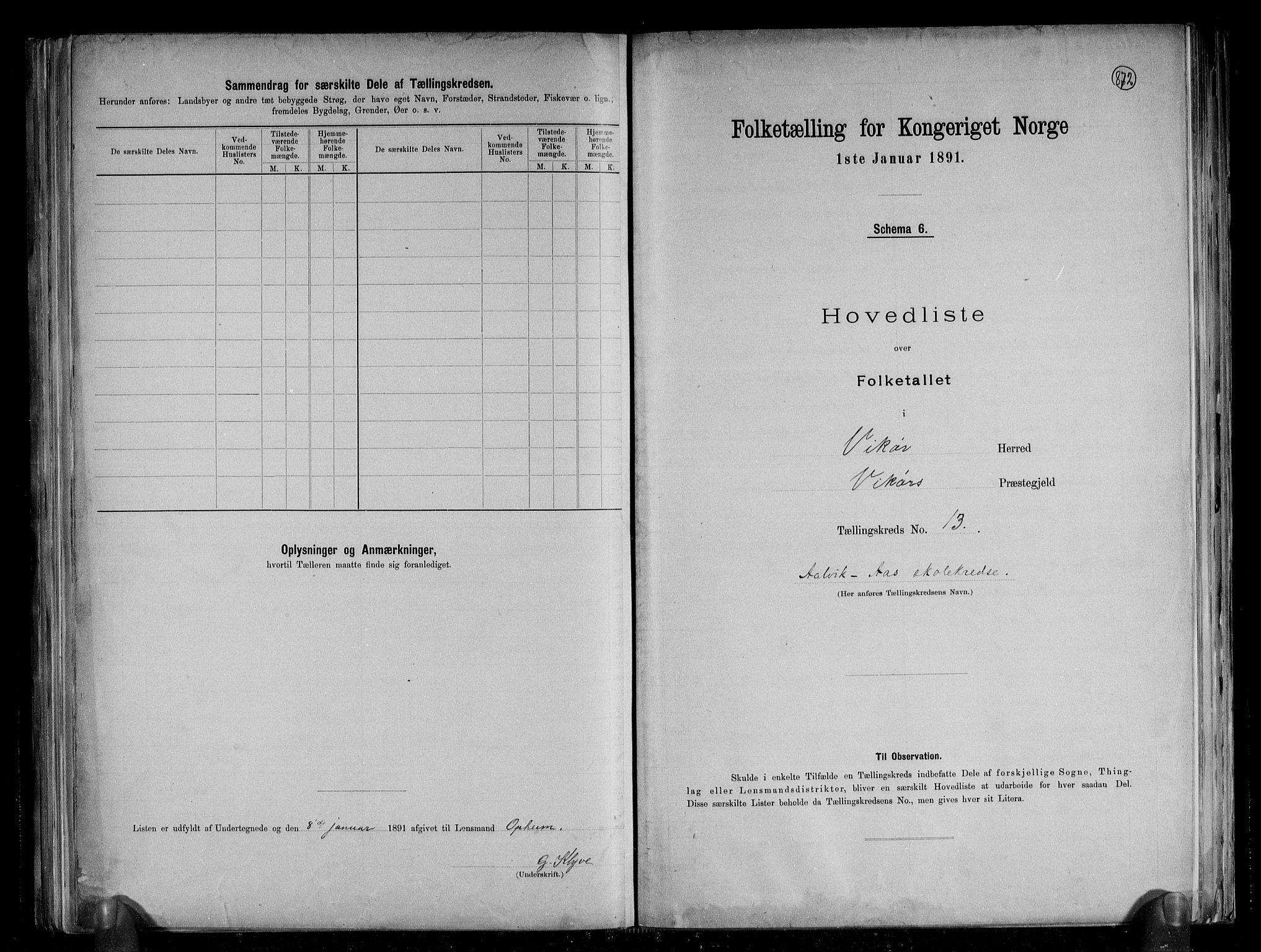 RA, Folketelling 1891 for 1238 Vikør herred, 1891, s. 29