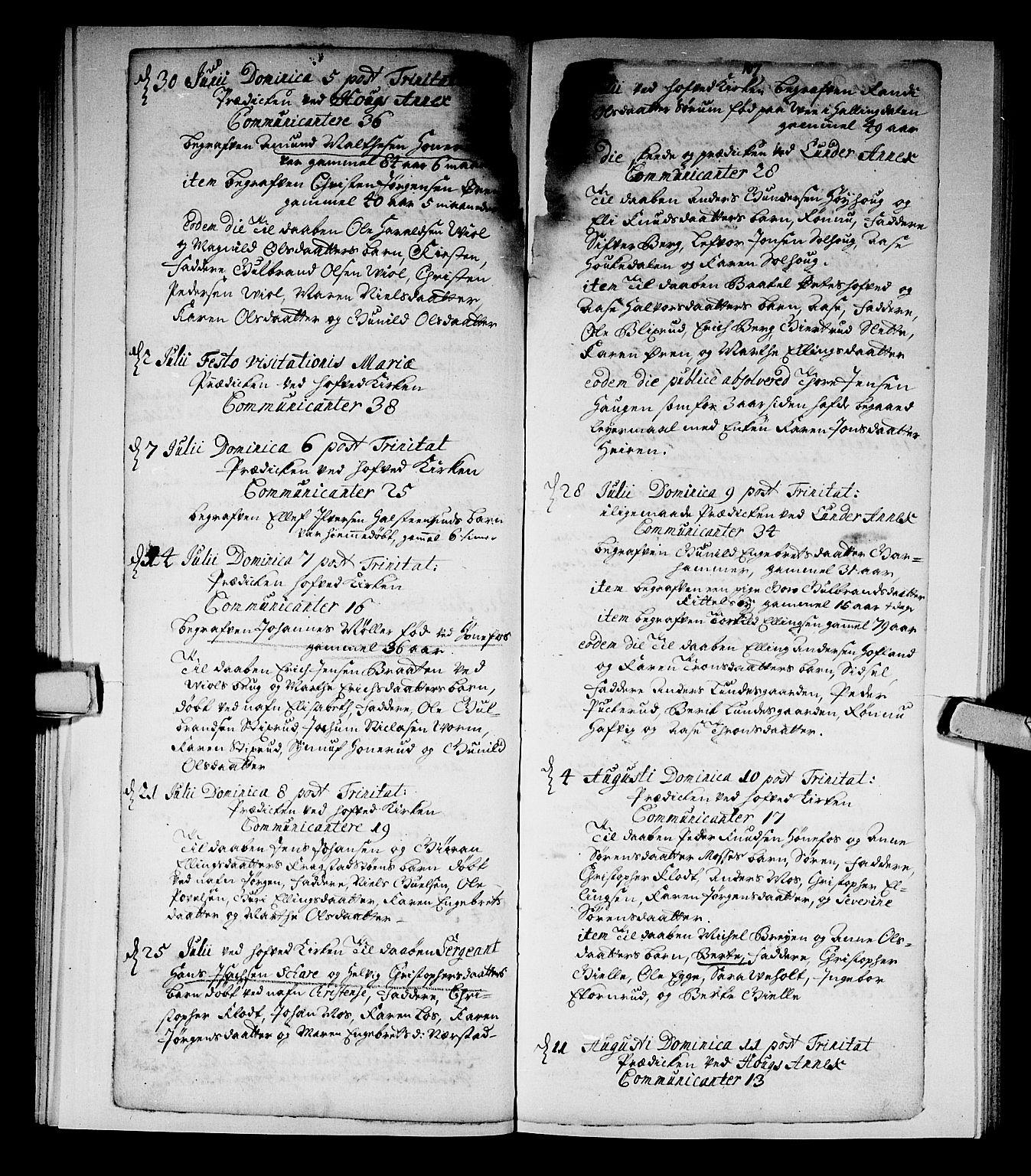 SAKO, Norderhov kirkebøker, F/Fa/L0002a: Ministerialbok nr. 2A, 1716-1725, s. 106-107