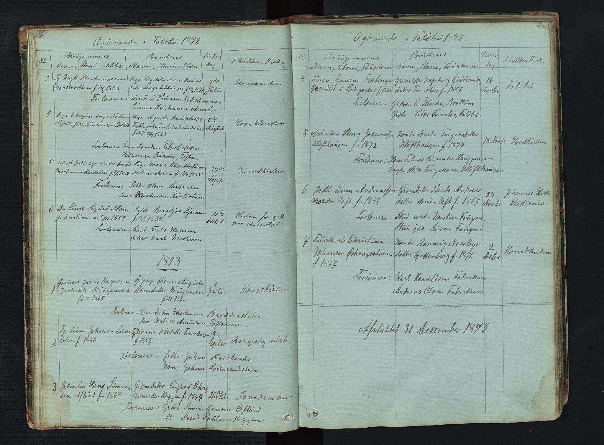 SAH, Gausdal prestekontor, Klokkerbok nr. 6, 1846-1893, s. 36-37