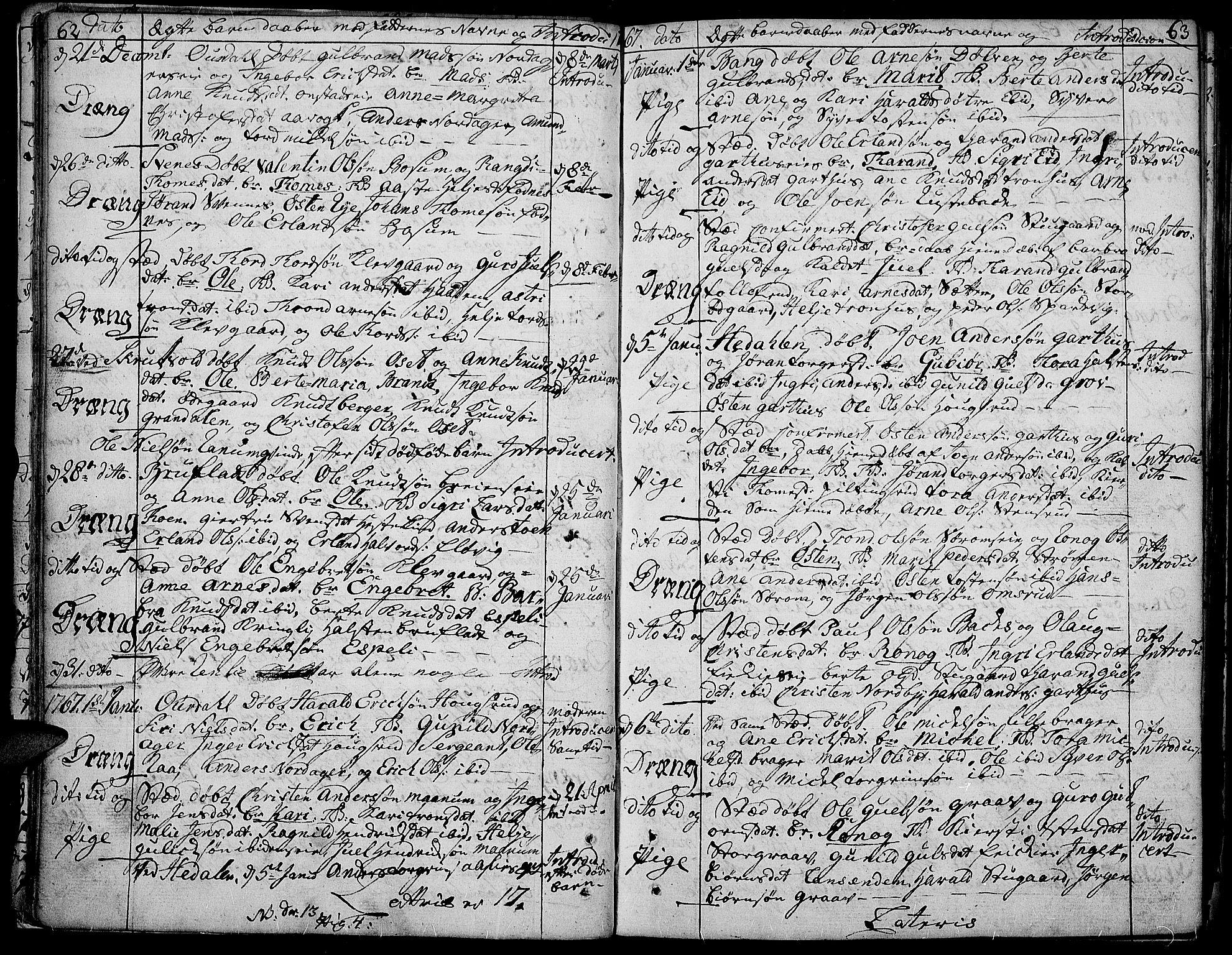 SAH, Aurdal prestekontor, Ministerialbok nr. 5, 1763-1781, s. 62-63