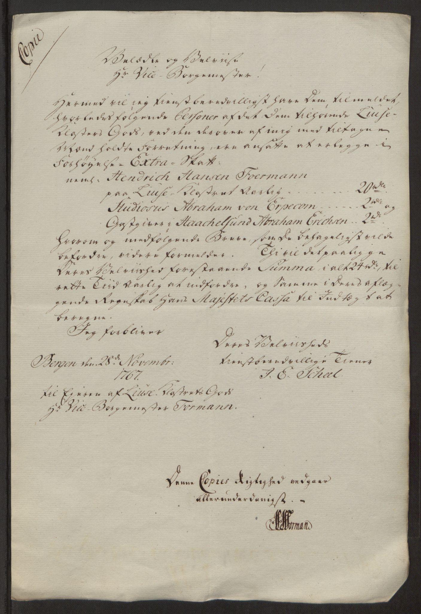 RA, Rentekammeret inntil 1814, Reviderte regnskaper, Fogderegnskap, R50/L3180: Ekstraskatten Lyse kloster, 1762-1783, s. 223