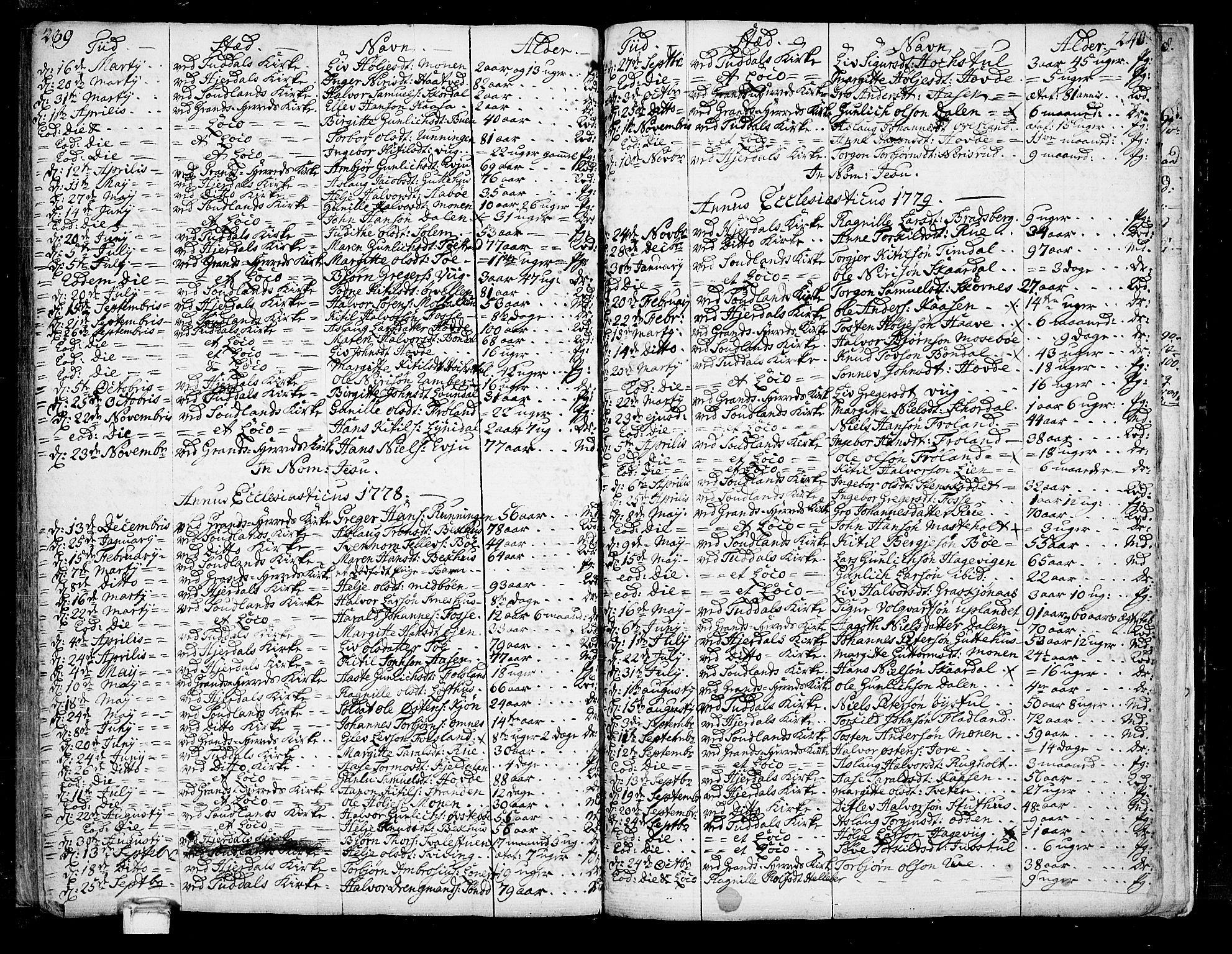 SAKO, Hjartdal kirkebøker, F/Fa/L0005: Ministerialbok nr. I 5, 1776-1801, s. 239-240