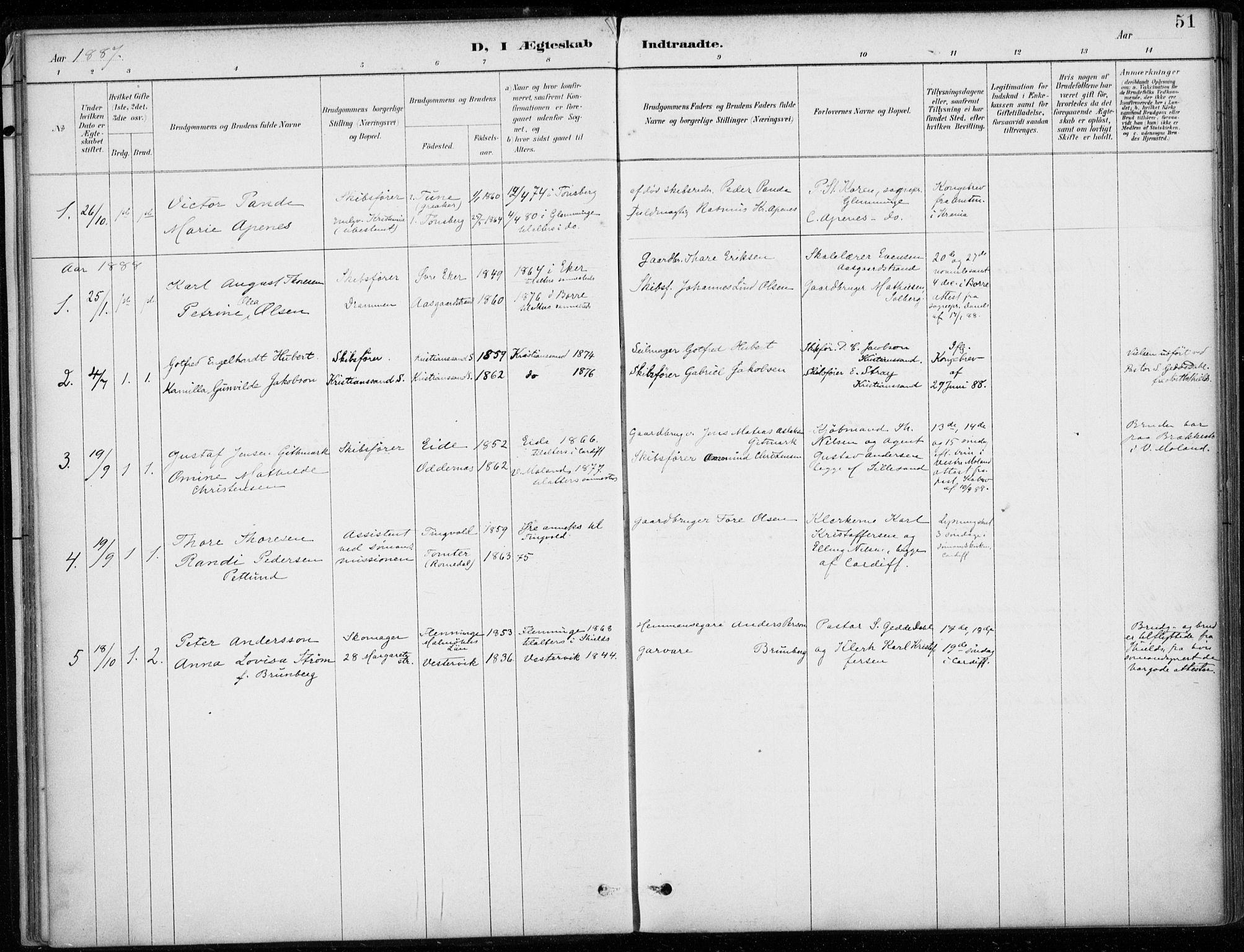 SAB, Den Norske Sjømannsmisjon i utlandet*, Ministerialbok nr. A 2, 1887-1932, s. 51