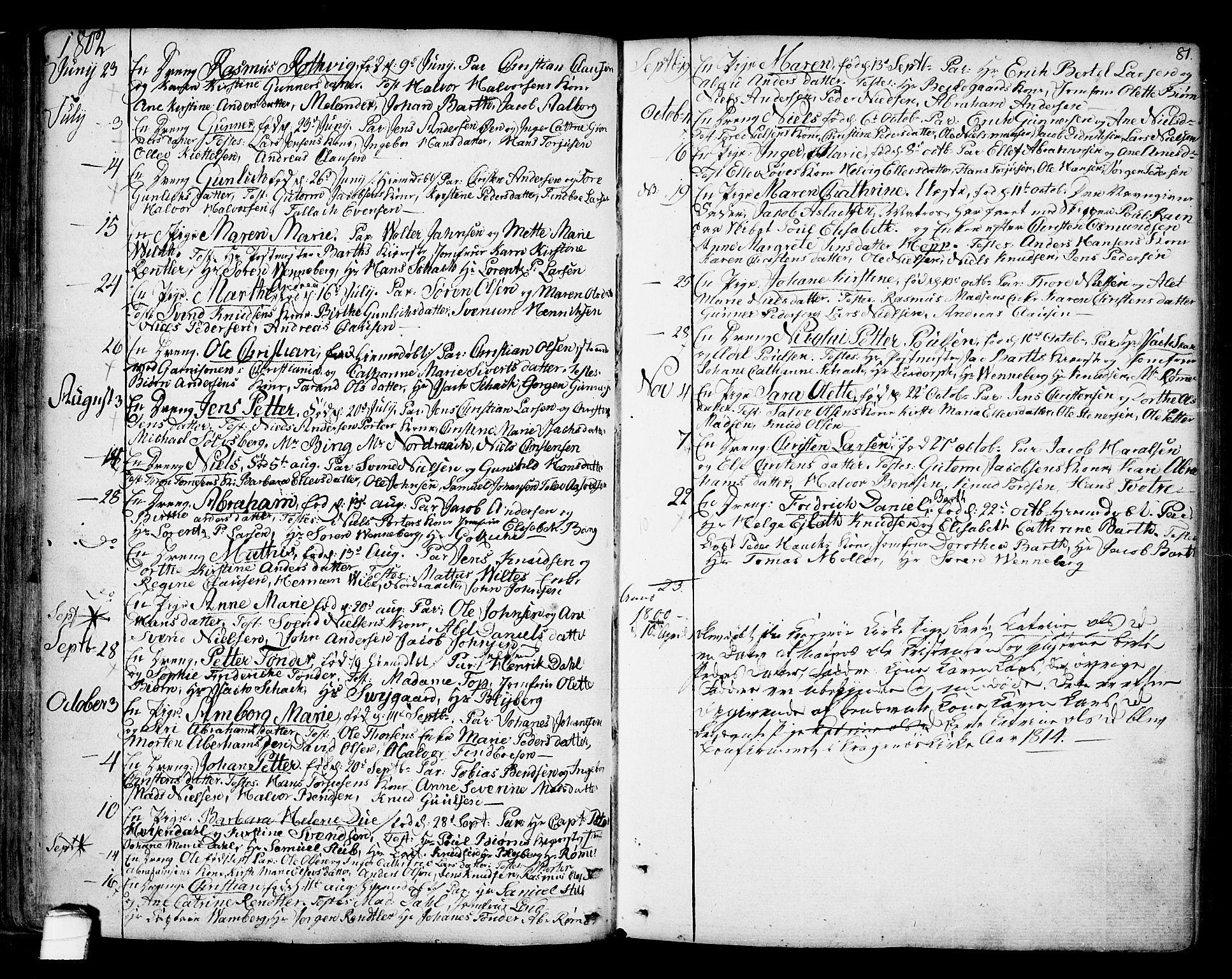 SAKO, Kragerø kirkebøker, F/Fa/L0002: Ministerialbok nr. 2, 1767-1802, s. 81